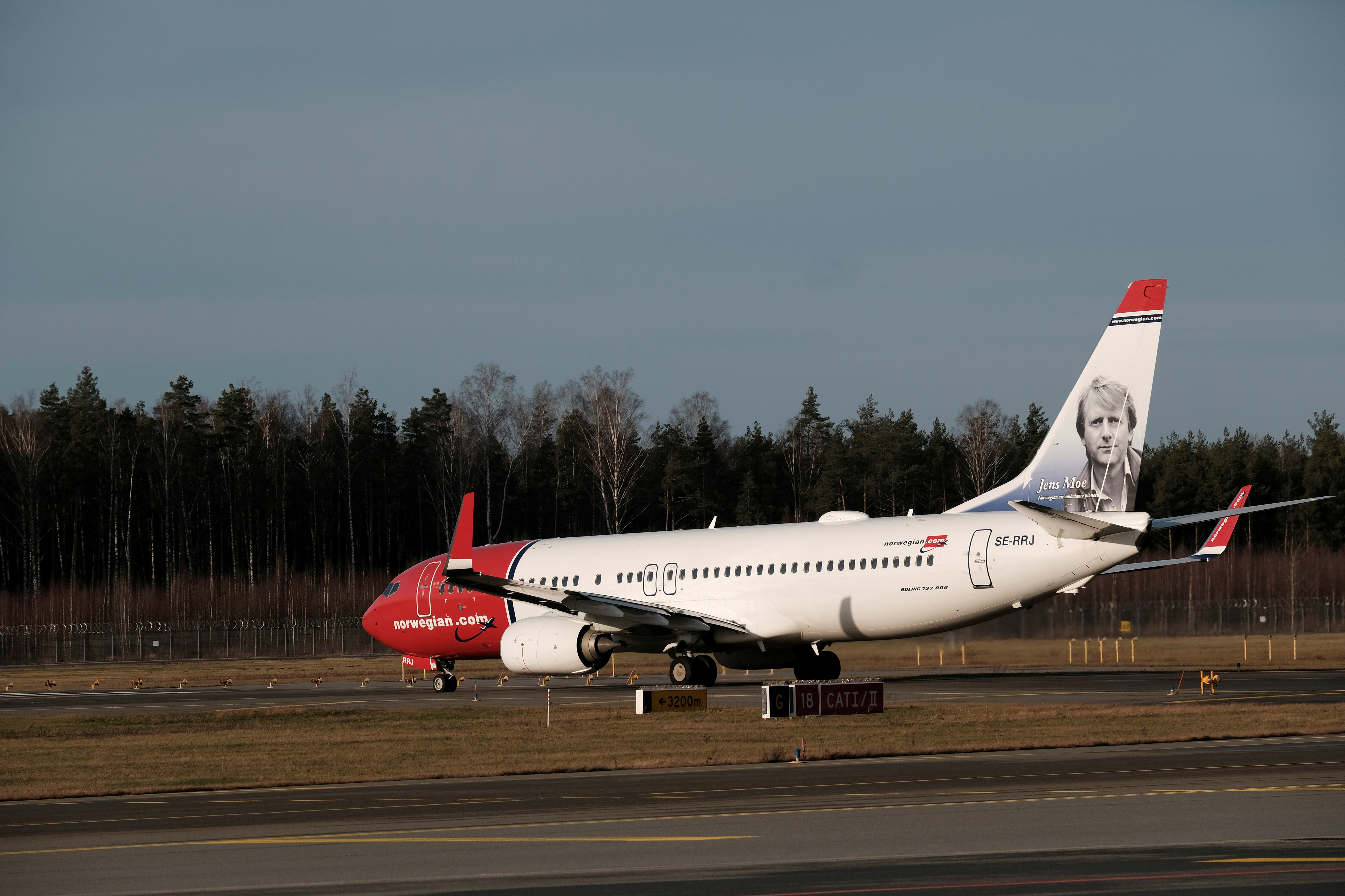 Norwegian Air Sweden Boeing 737-800 plane SE-RRJ taxies to take-off in Riga International Airport in Riga, Latvia January 17, 2020. REUTERS/Ints Kalnins/File Photo
