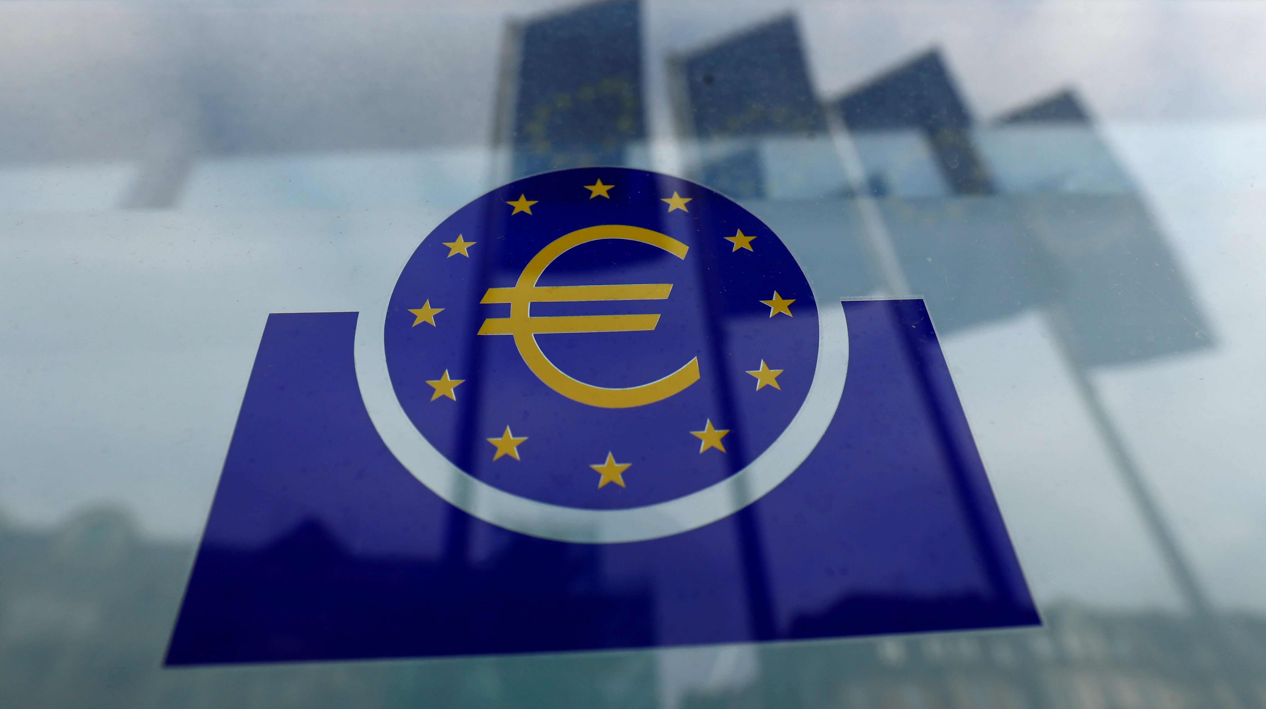 The European Central Bank logo. Frankfurt, Germany, January 23, 2020. REUTERS/Ralph Orlowski