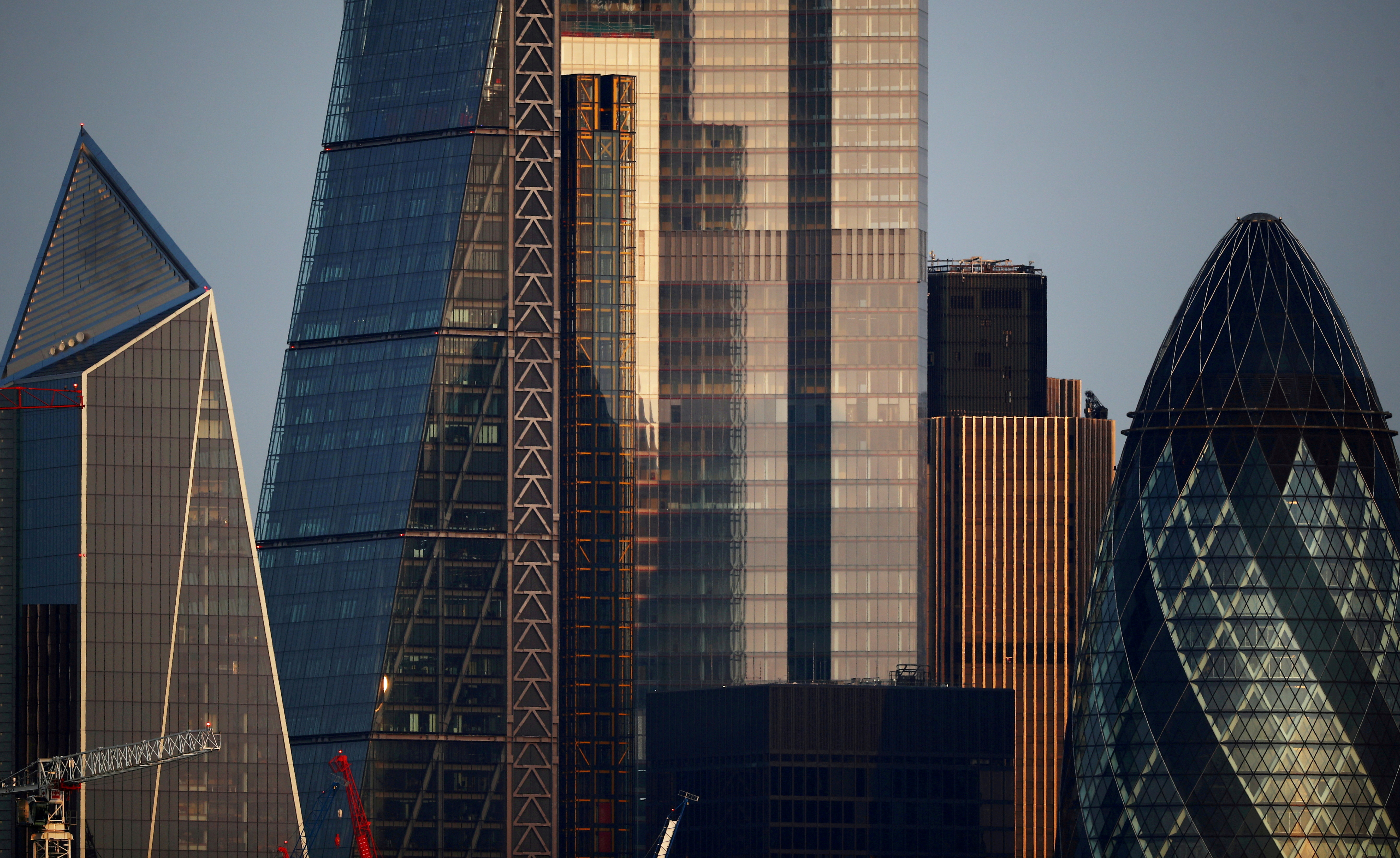 Skyscrapers in The City of London financial district are seen in London, Britain, September 14, 2020. REUTERS/Hannah McKay/File Photo