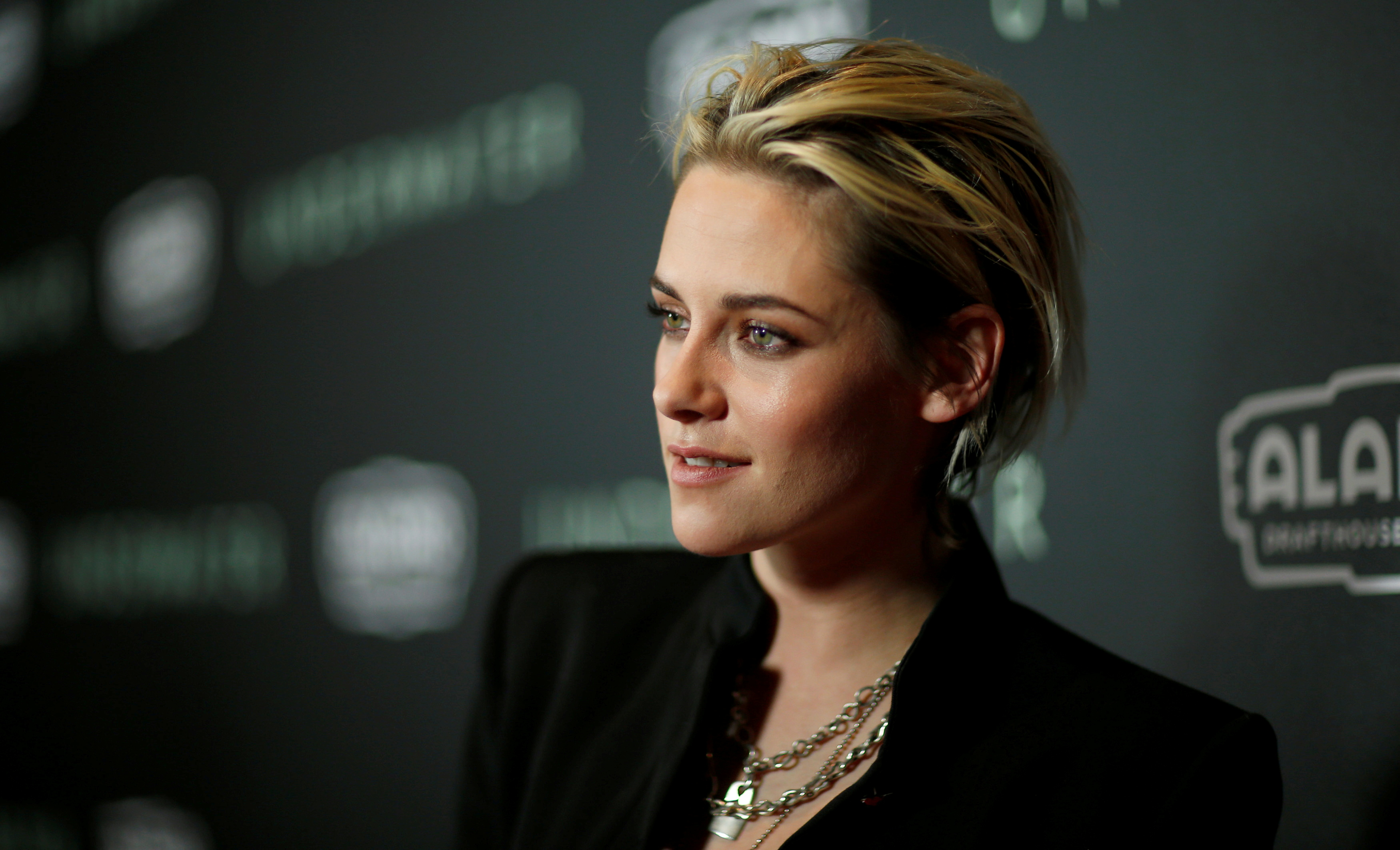 Cast member Kristen Stewart poses at a screening for the film