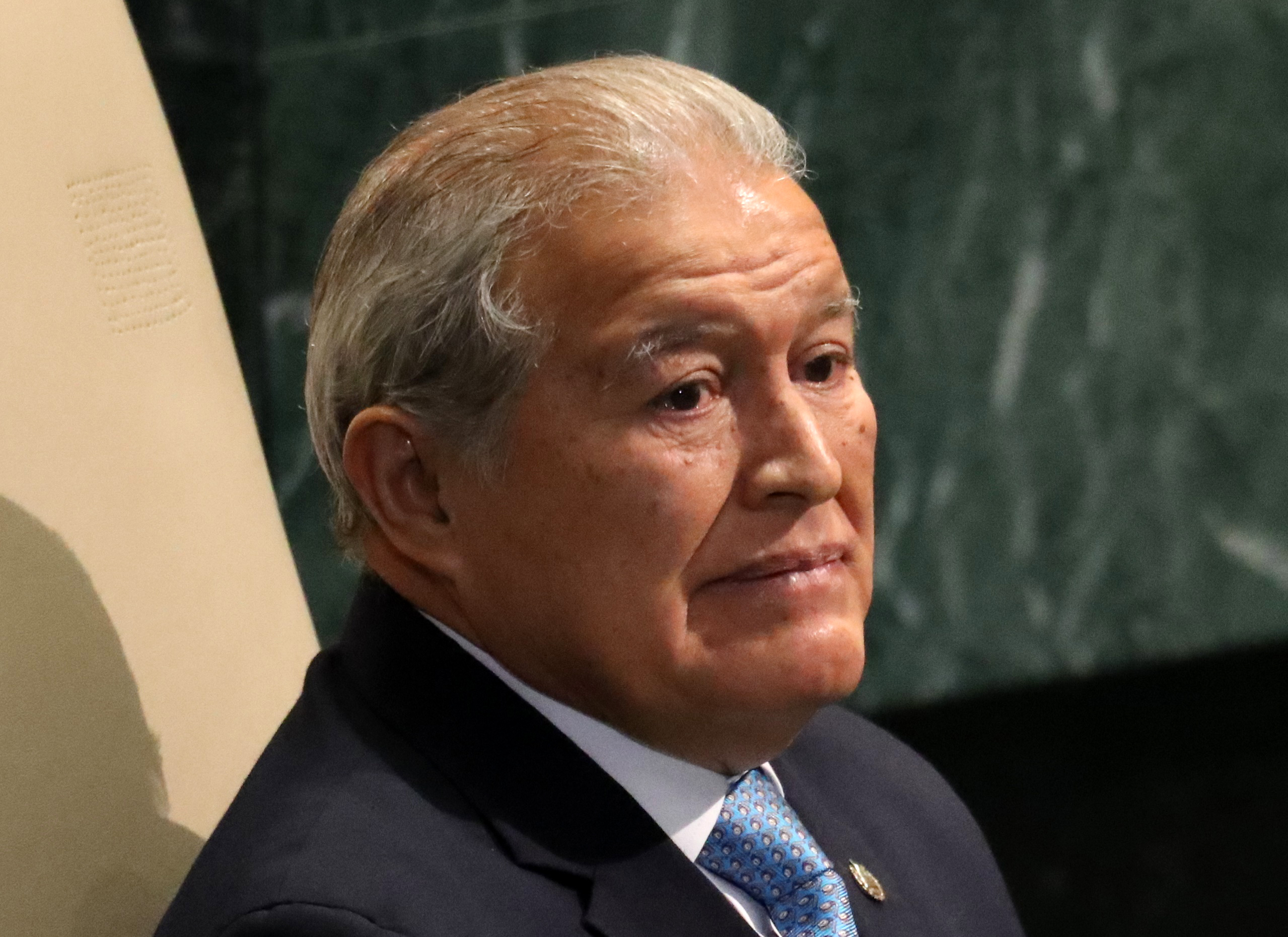 President Salvador Sanchez Ceren of El Salvador waits to address the United Nations General Assembly in the Manhattan borough of New York, U.S., September 22, 2016.  REUTERS/Carlo Allegri