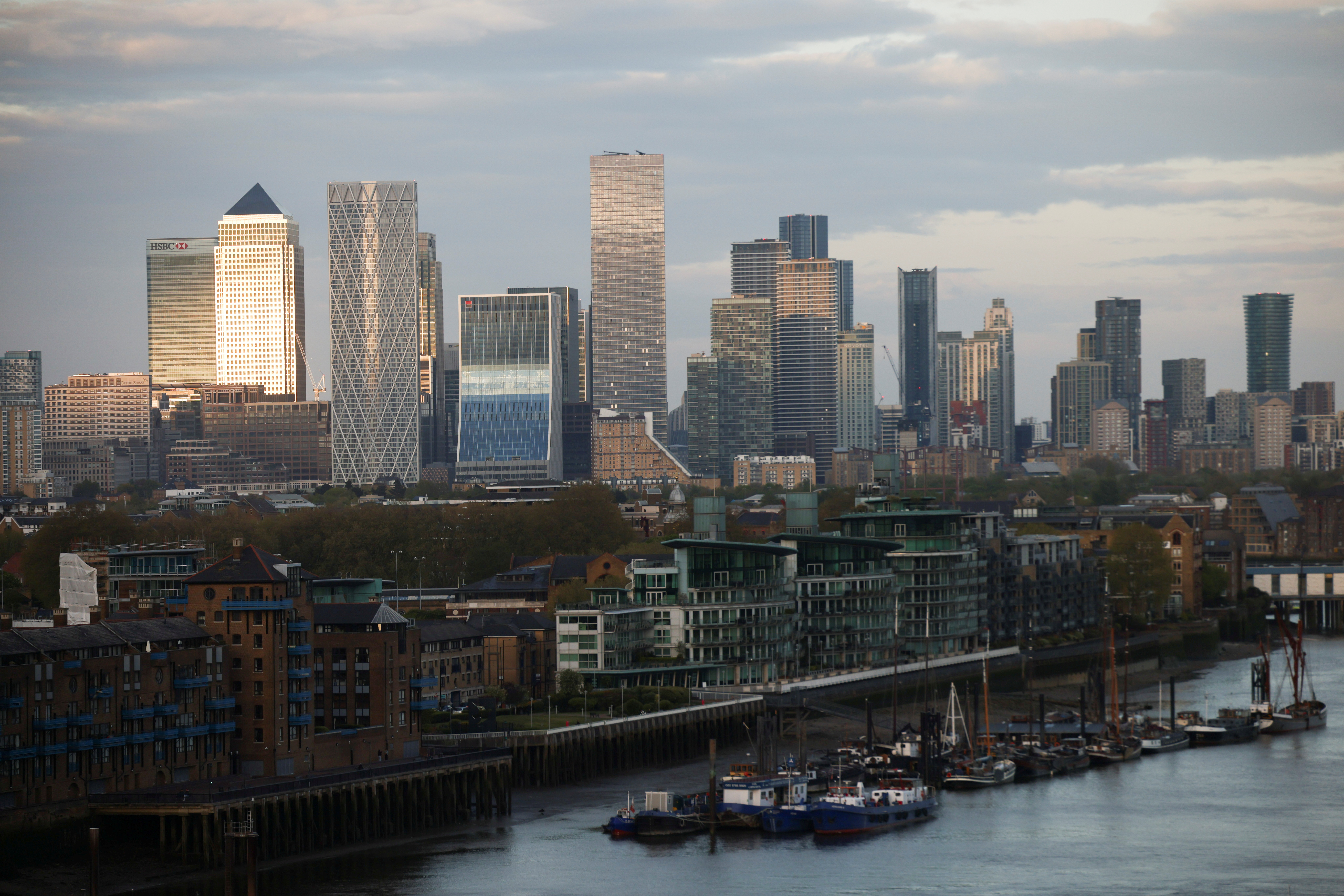 Skyscrapers in The City of London financial district are seen from City Hall in London, Britain, May 8, 2021. REUTERS/Henry Nicholls