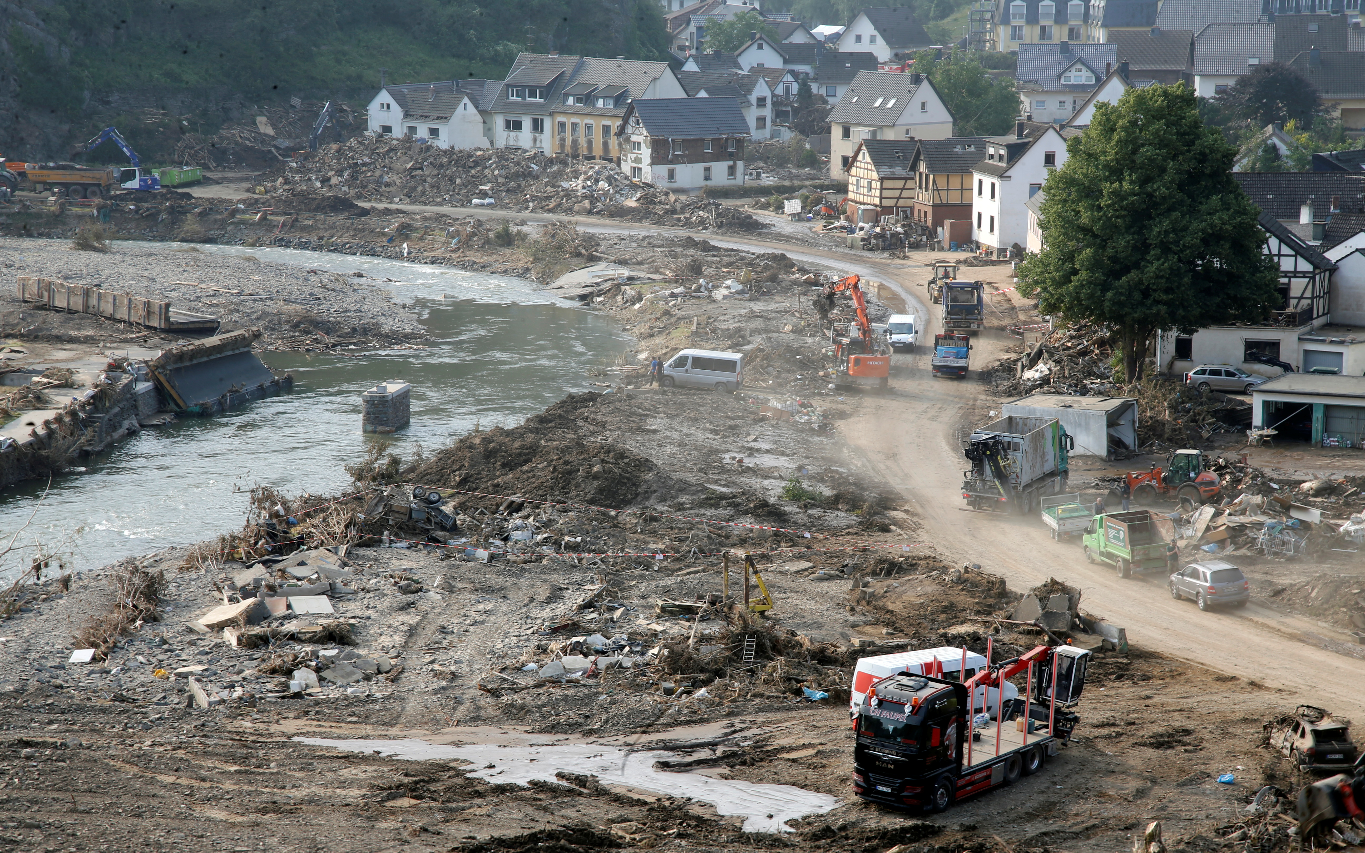 General view following heavy rainfalls in Altenburg, Germany, July 23, 2021. REUTERS/Leon Kuegeler