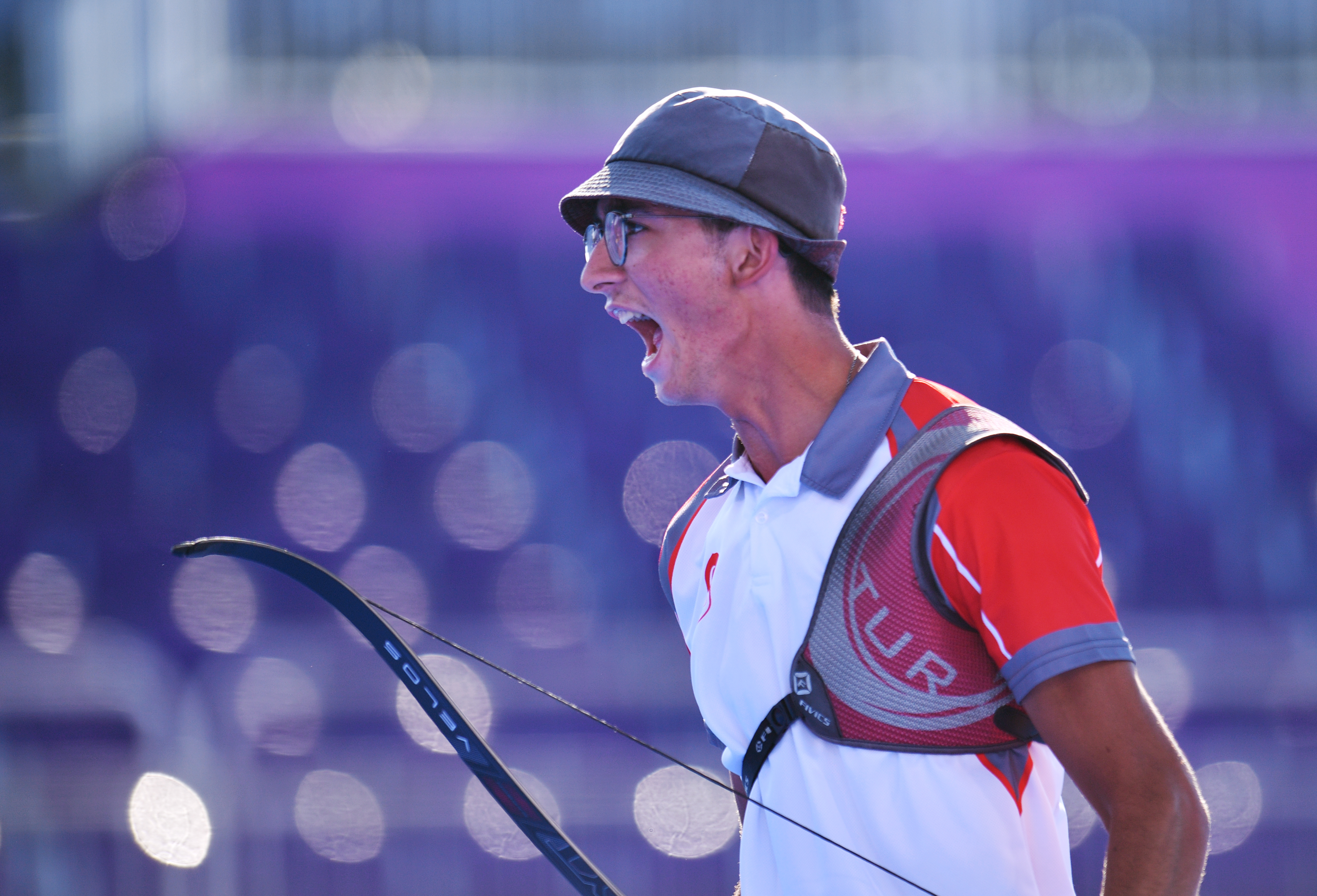 Tokyo 2020 Olympics - Archery - Men's Individual - Semifinal 2 - Yumenoshima Archery Field, Tokyo, Japan - July 31, 2021. Mete Gazoz of Turkey celebrates REUTERS/Clodagh Kilcoyne
