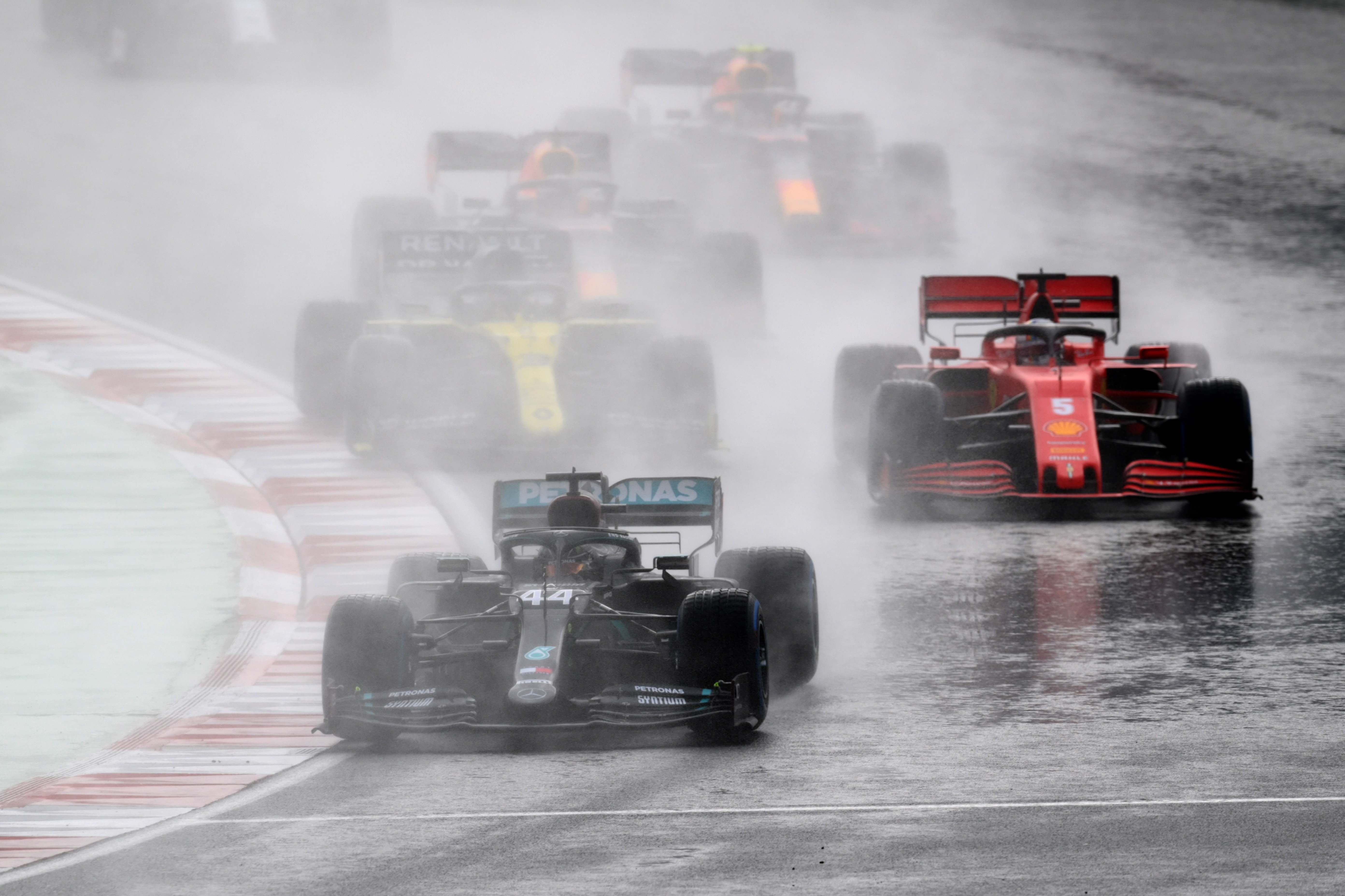 Formula One F1 - Turkish Grand Prix - Istanbul Park, Istanbul, Turkey - November 15, 2020 Mercedes' Lewis Hamilton in action during the race REUTERS/Clive Mason