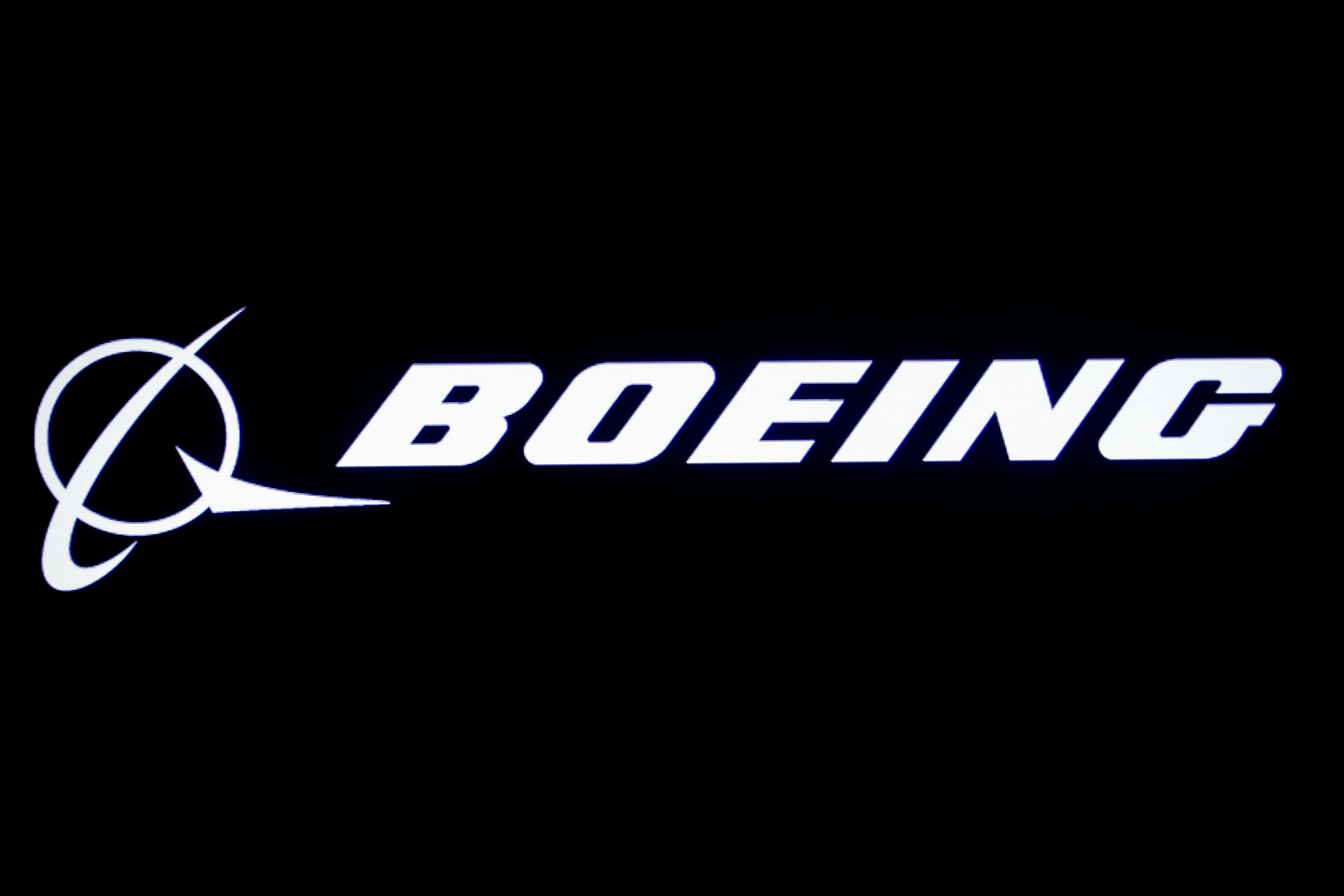 The Boeing logo is displayed on a screen at the New York Stock Exchange (NYSE) in New York, U.S., August 7, 2019. REUTERS/Brendan McDermid