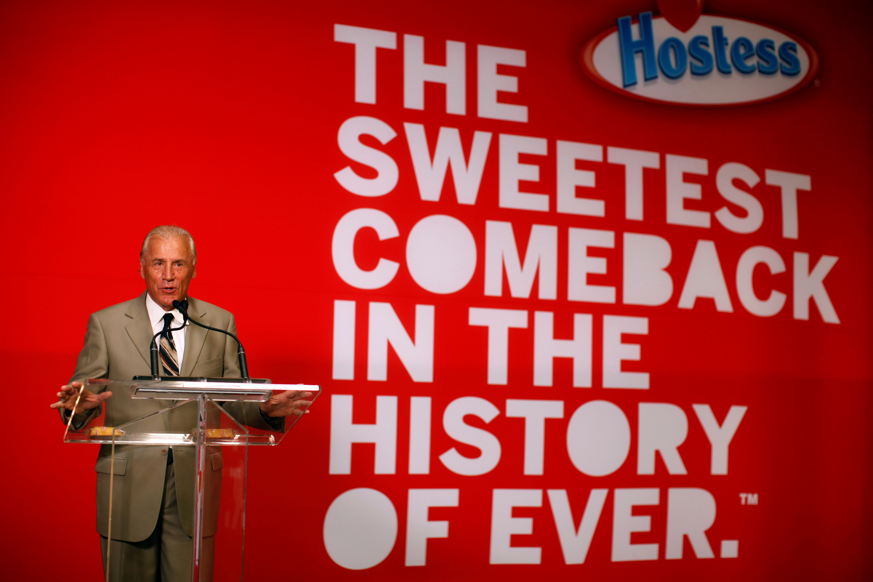 File photo: Dean Metropoulos speaks at a ceremony marking the return of