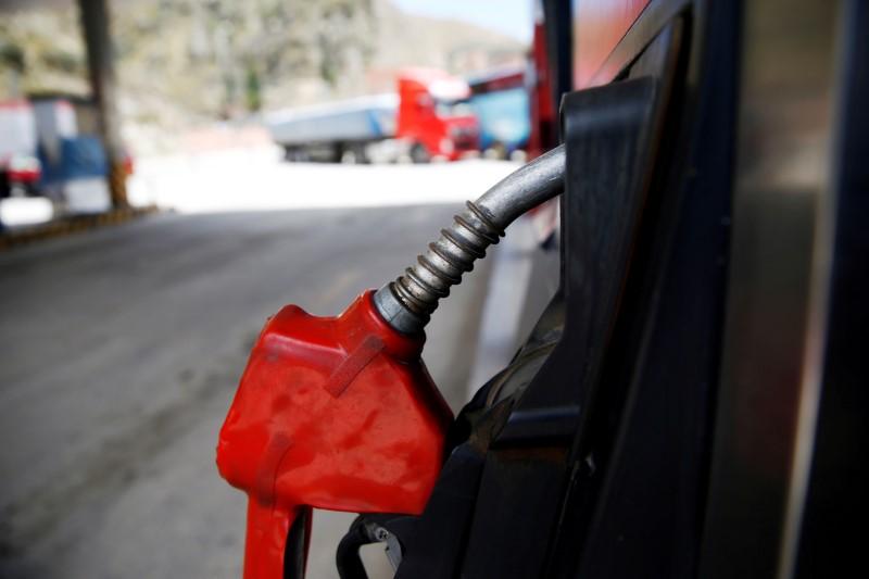 A closed petrol pump is seen in Chuquiaguillo, on the outskirts of La Paz, Bolivia, November 17, 2019. REUTERS/David Mercado/File Photo