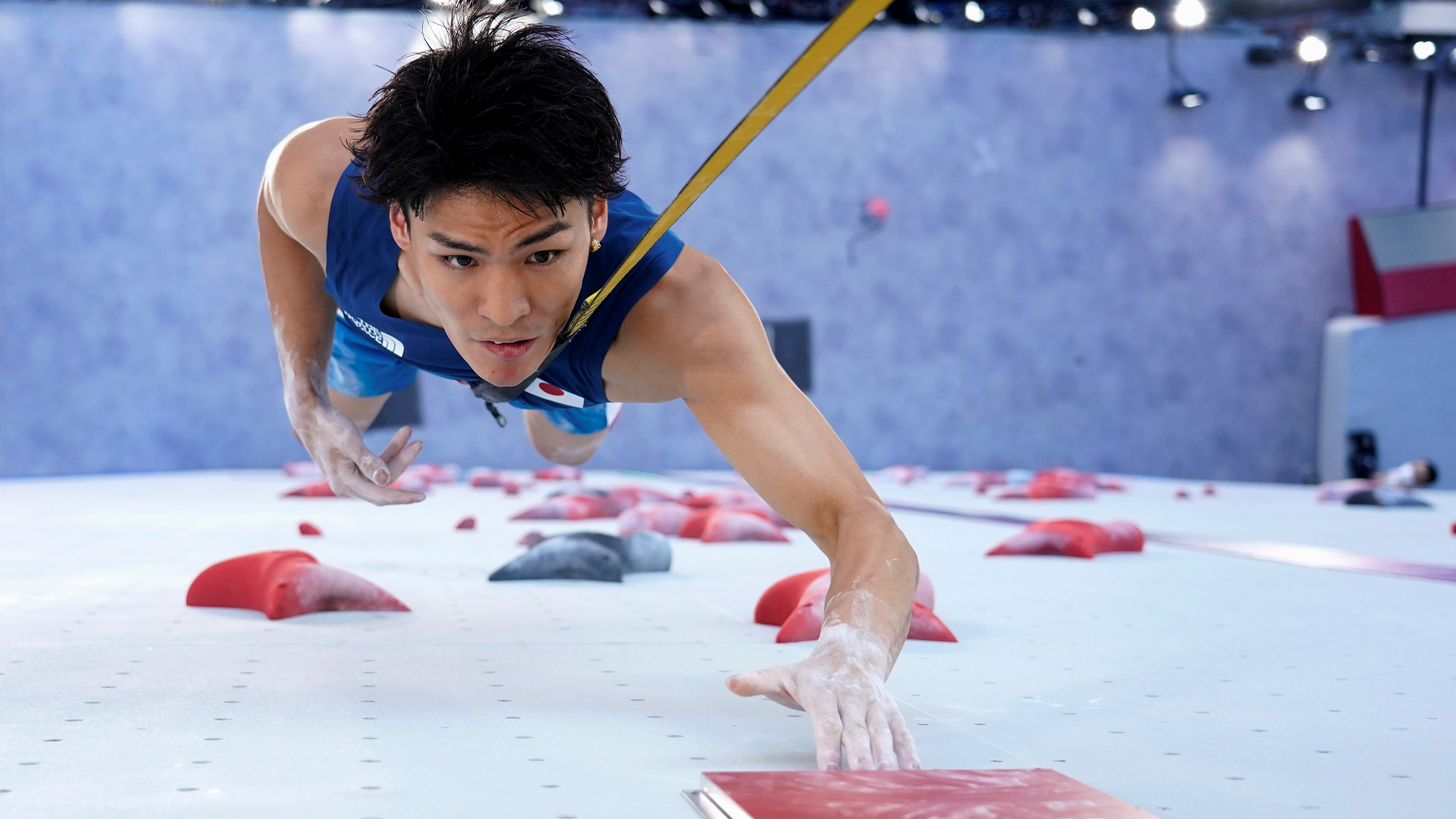 Tokyo 2020 Olympics - Sport Climbing - Men's Combined - Qualification - Aomi Urban Sports Park - Tokyo, Japan - August 3, 2021.  Tomoa Narasaki of Japan in action Pool via REUTERS/@Auo1