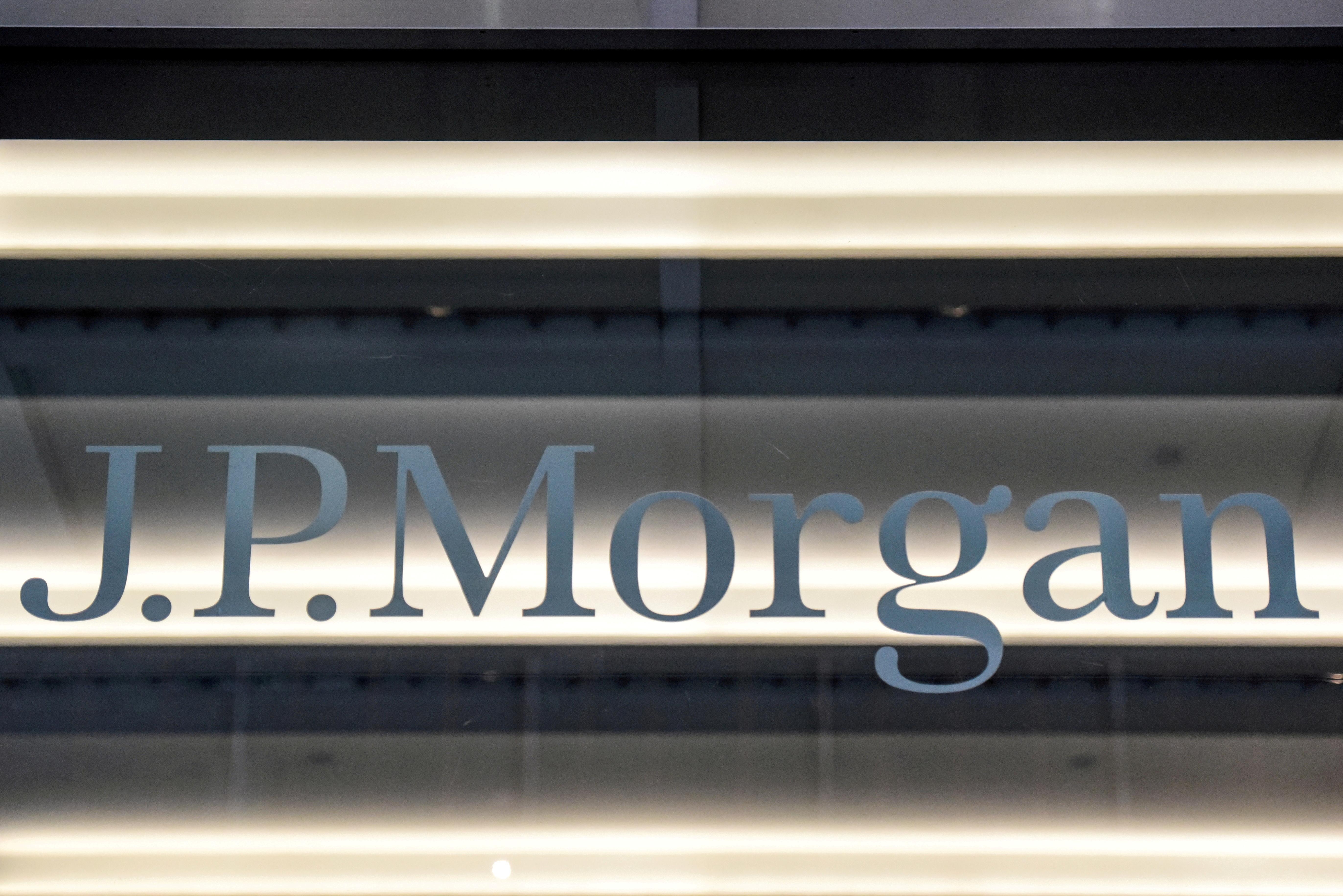 A JPMorgan logo is seen in New York City, U.S., January 10, 2017. REUTERS/Stephanie Keith