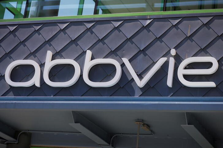 A sign stands outside a Abbvie facility in Cambridge, Massachusetts, U.S., May 20, 2021.    REUTERS/Brian Snyder