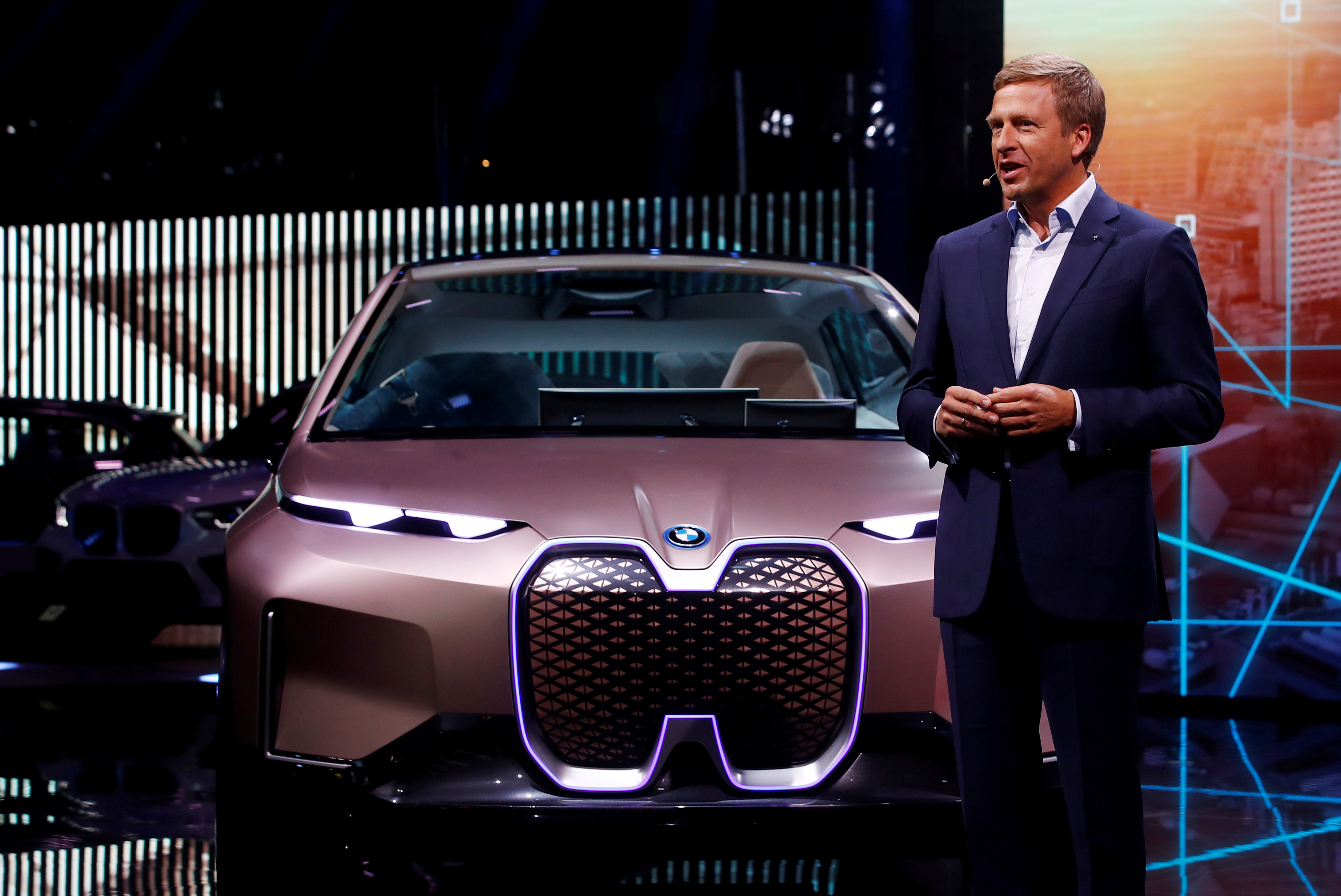 BMW German luxury carmaker new CEO Oliver Zipse, speaks at the 2019 Frankfurt Motor Show (IAA) in Frankfurt, Germany. September 10, 2019. REUTERS/Wolfgang Rattay/File Photo