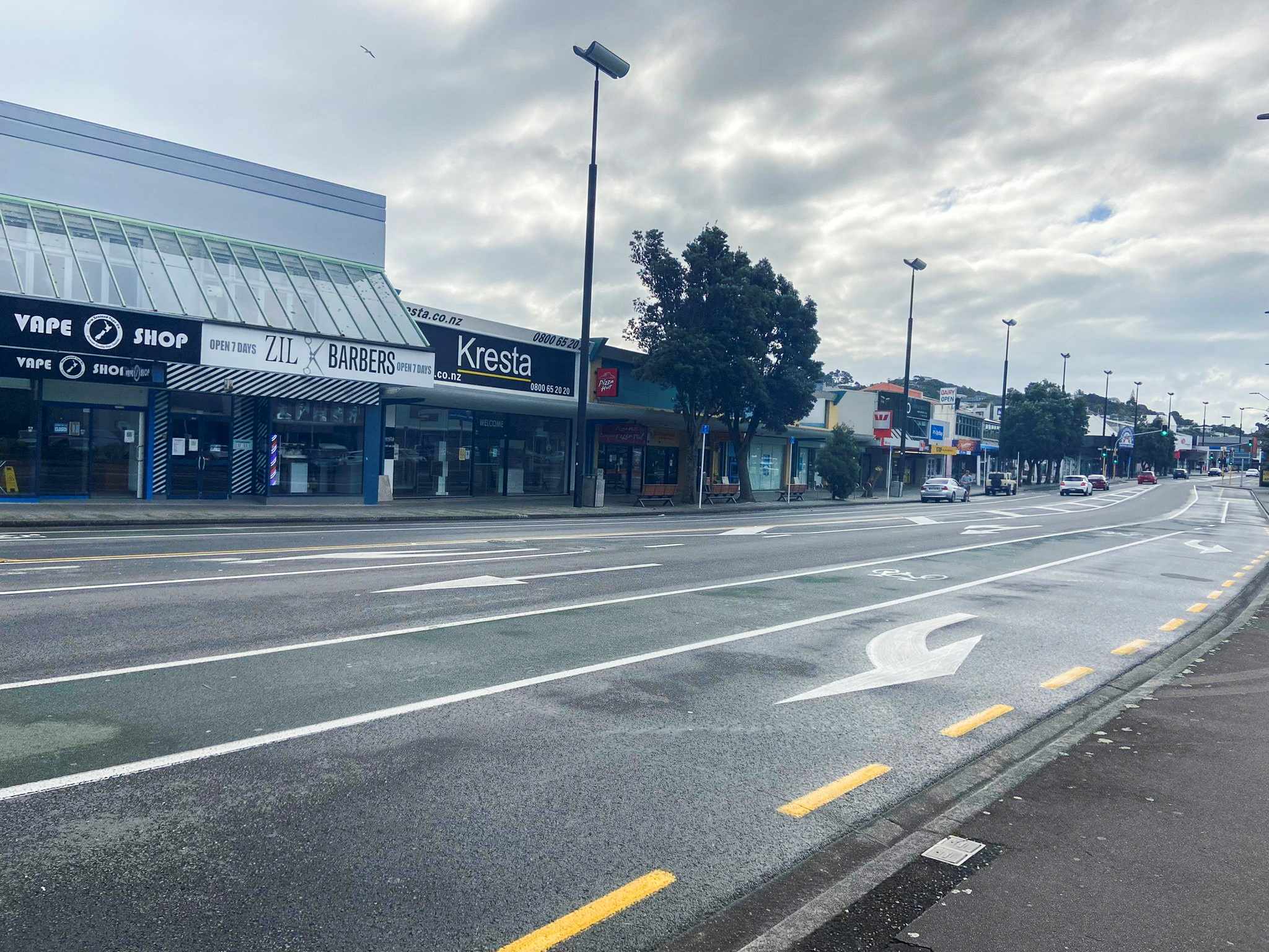 An empty street is seen as a lockdown to curb the spread of cases of the coronavirus disease (COVID-19) remains in place in Wellington, New Zealand, August 20, 2021.  REUTERS/Praveen Menon