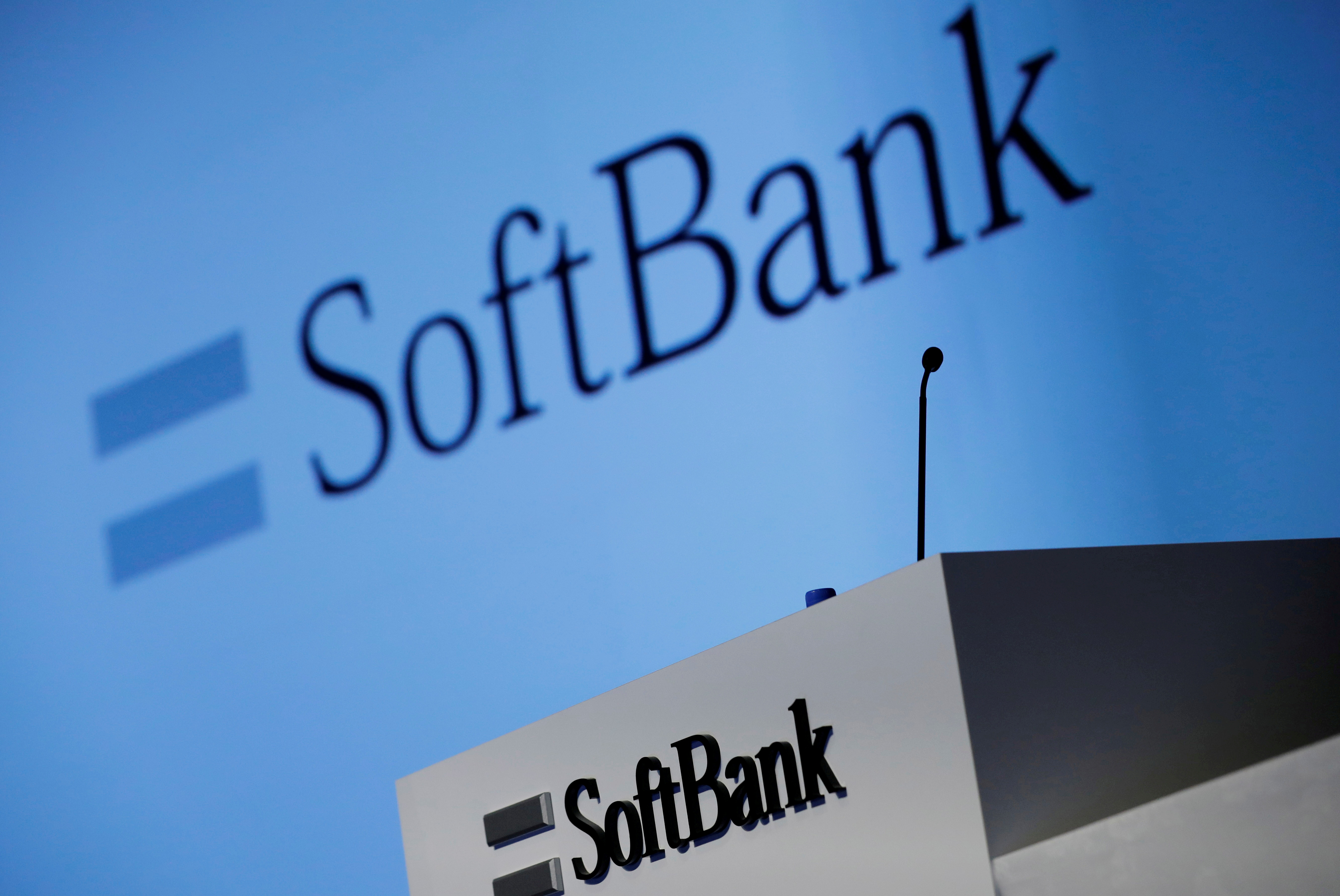 SoftBank Corp's logo is pictured at a news conference in Tokyo, Japan, February 4, 2021. REUTERS/Kim Kyung-Hoon/File Photo