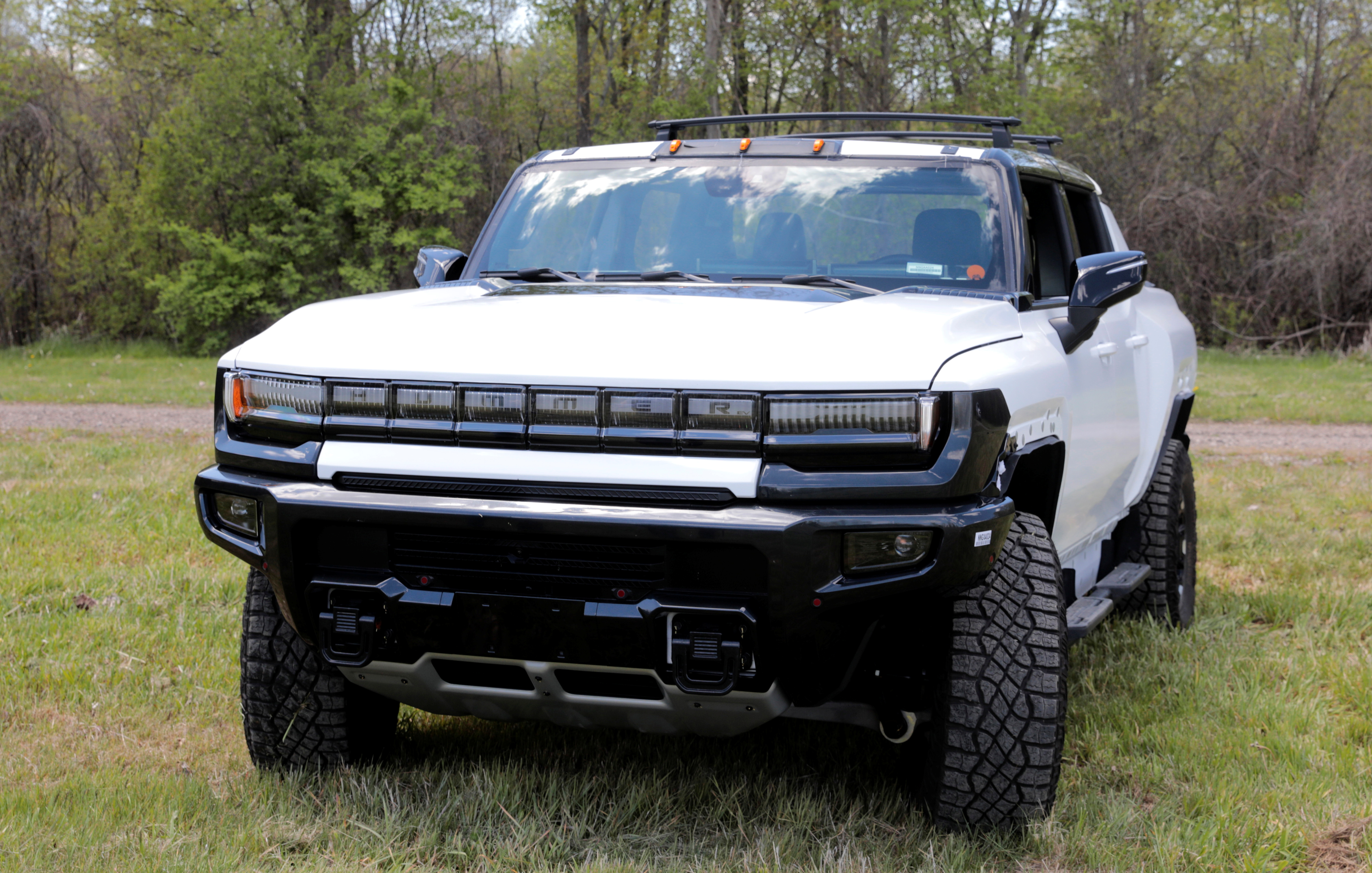 A pre-production version of the GMC Hummer electric pickup is seen in Milford, Michigan, U.S., May 14, 2021.  Photo taken May 14, 2021.   REUTERS/Rebecca Cook