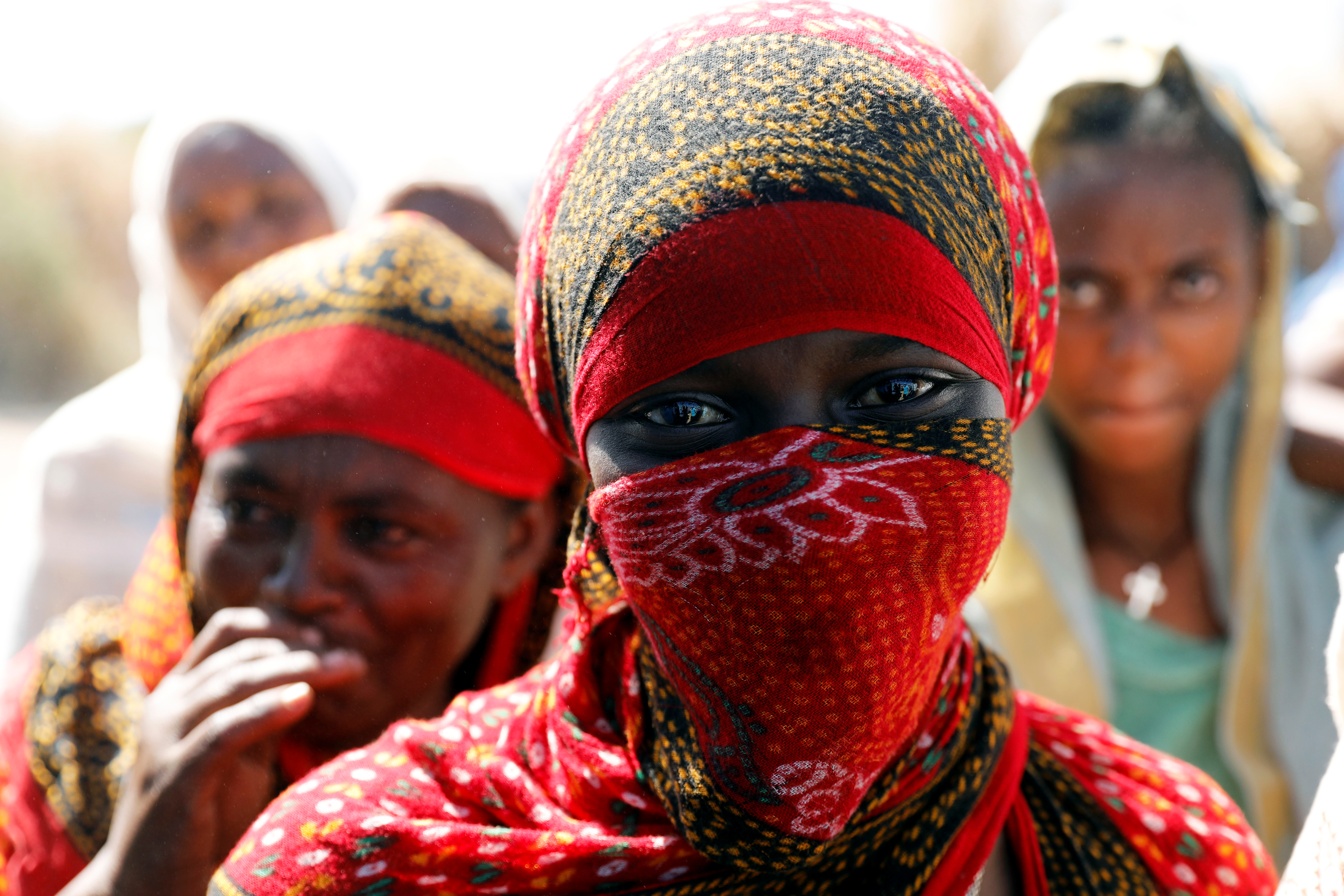 A woman is seen at the Um Rakuba refugee camp which houses Ethiopians fleeing the fighting in the Tigray region, on the the border in Sudan, December 3, 2020. Picture taken December 3, 2020. REUTERS/Baz Ratner