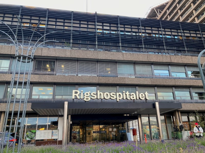 View of the Rigshospitalet hospital, where Denmark midfielder Christian Eriksen is being treated after collapsing on the pitch during his side's Euro 2020 soccer match with Finland, in Copenhagen, Denmark, June 12, 2021. REUTERS/Andreas Mortensen
