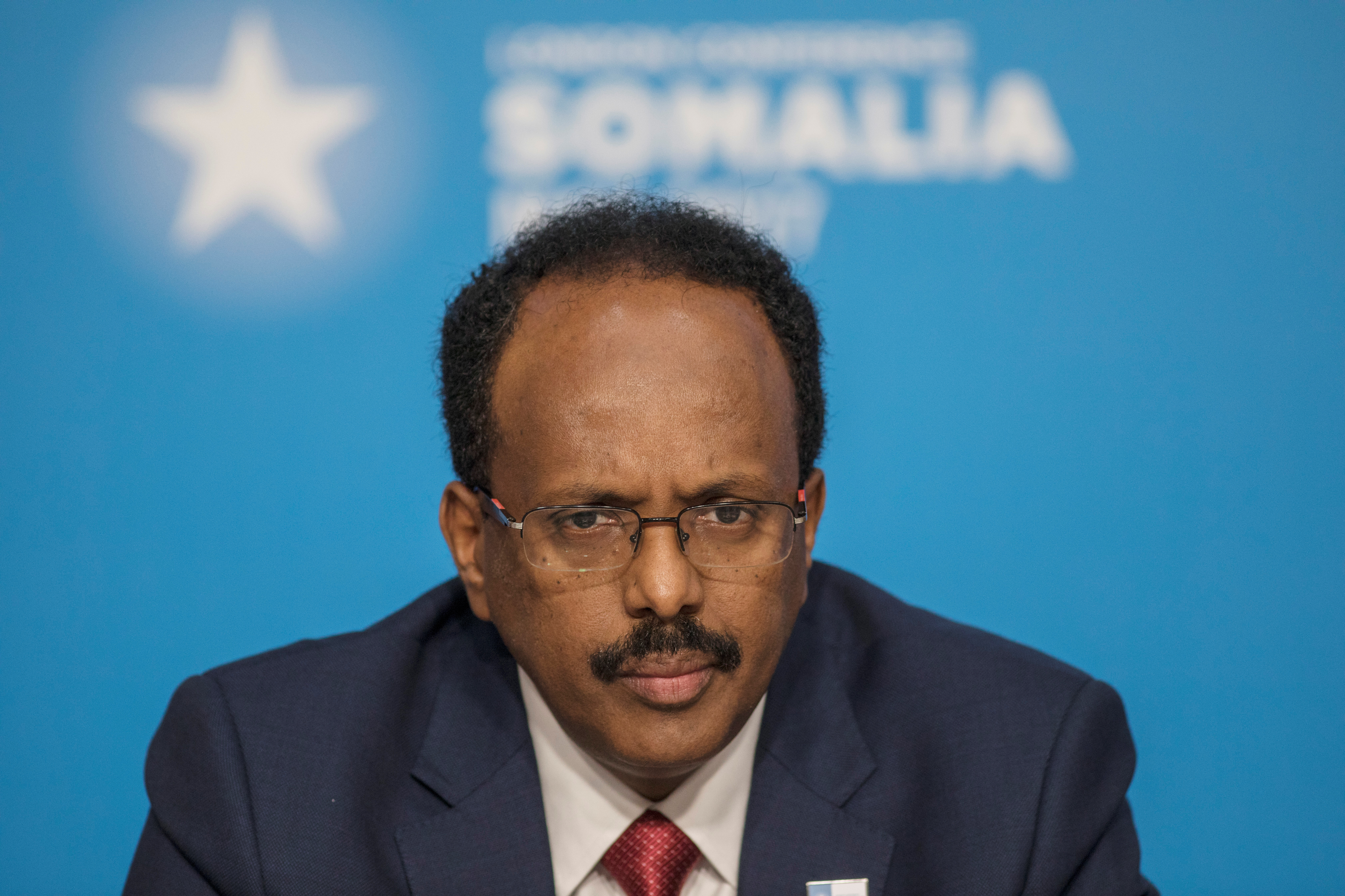 Mohamed Abdullahi Mohamed, President of Somalia, attends the London Somalia Conference' at Lancaster House, May 11, 2017. REUTERS/Jack Hill/Pool