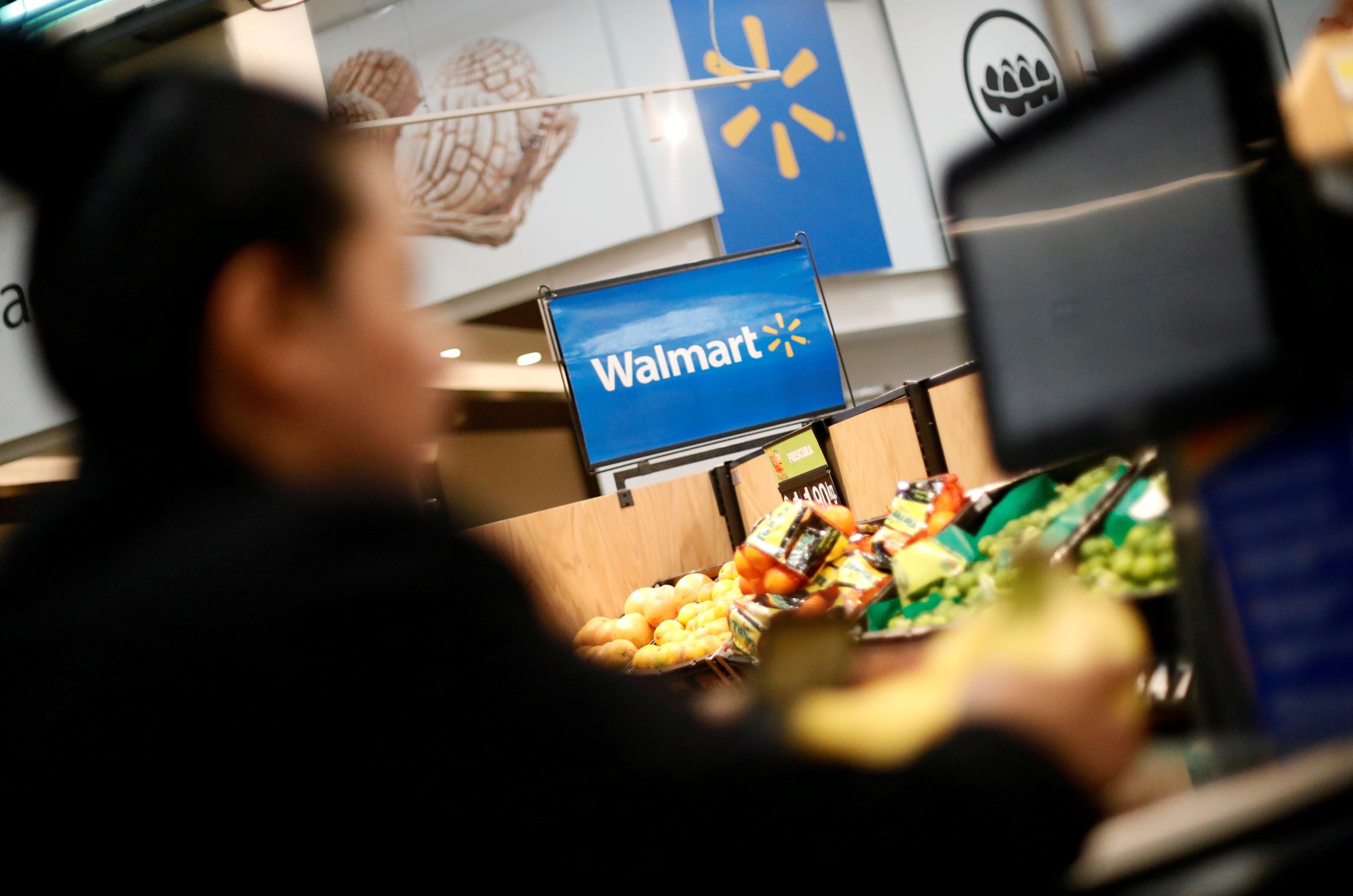 A customer shops inside a Walmart store in Mexico City, Mexico March 28, 2019. REUTERS/Edgard Garrido/File Photo