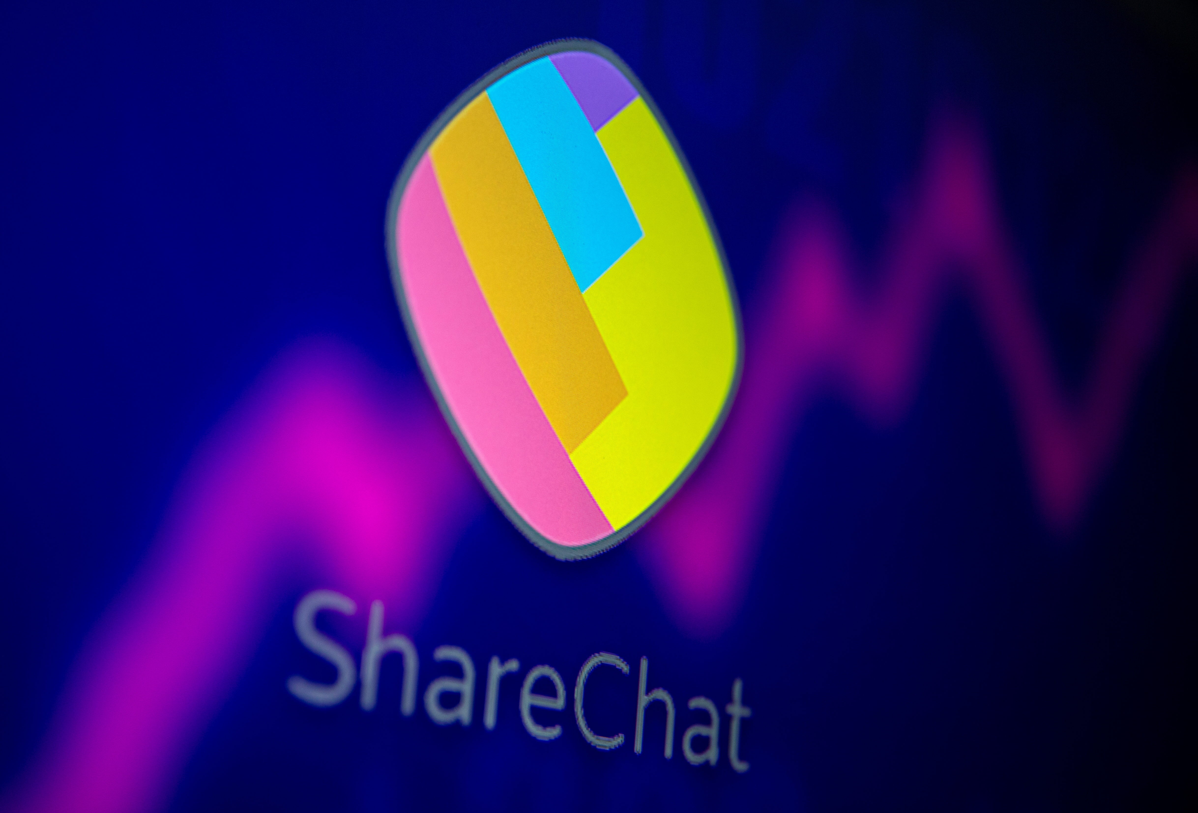 ShareChat and stock graph are displayed in this illustration taken, July 26, 2021. REUTERS/Dado Ruvic/Illustration