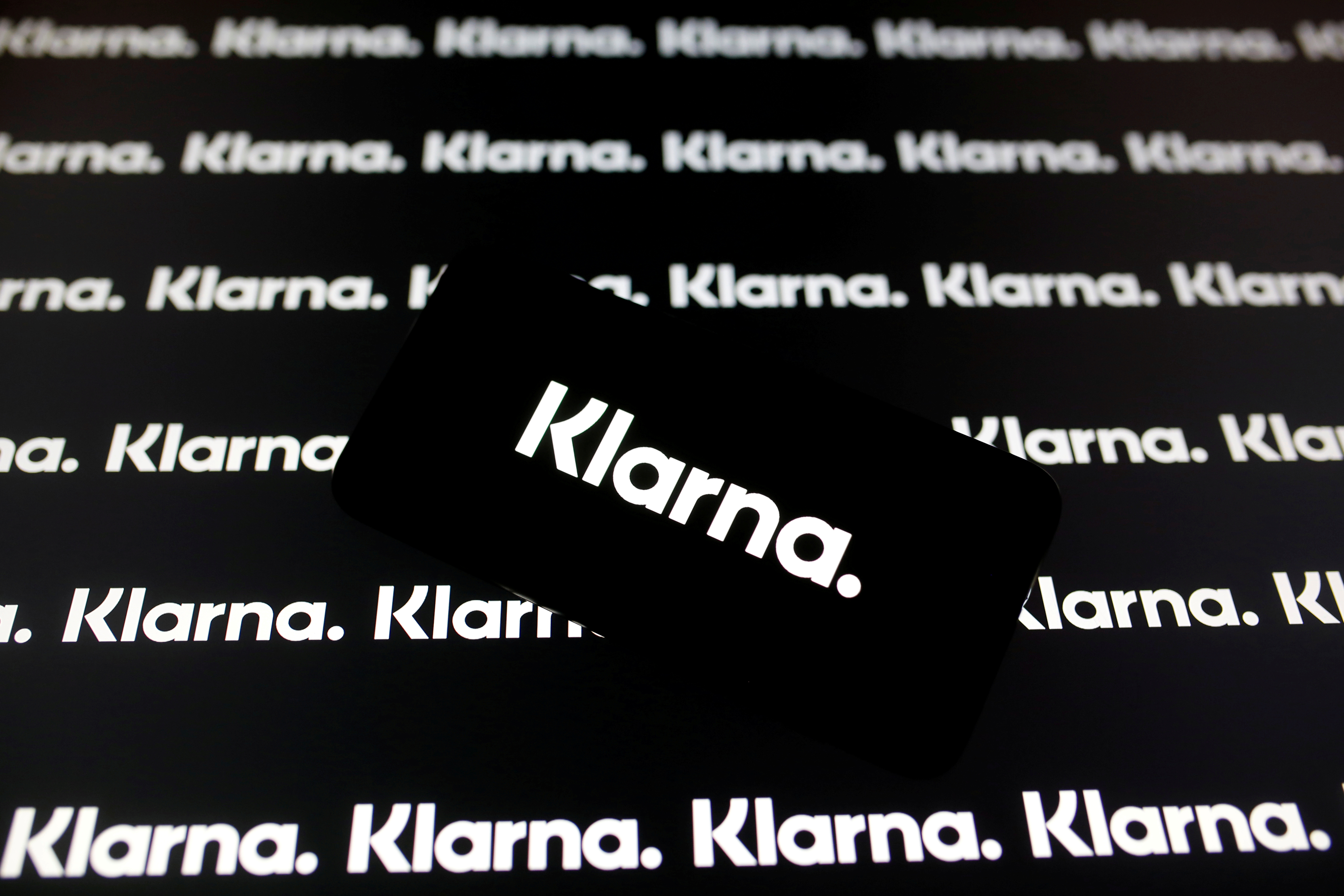 A smartphone displays a Klarna logo in this illustration taken January 6, 2020. REUTERS/Dado Ruvic/Illustration/File Photo
