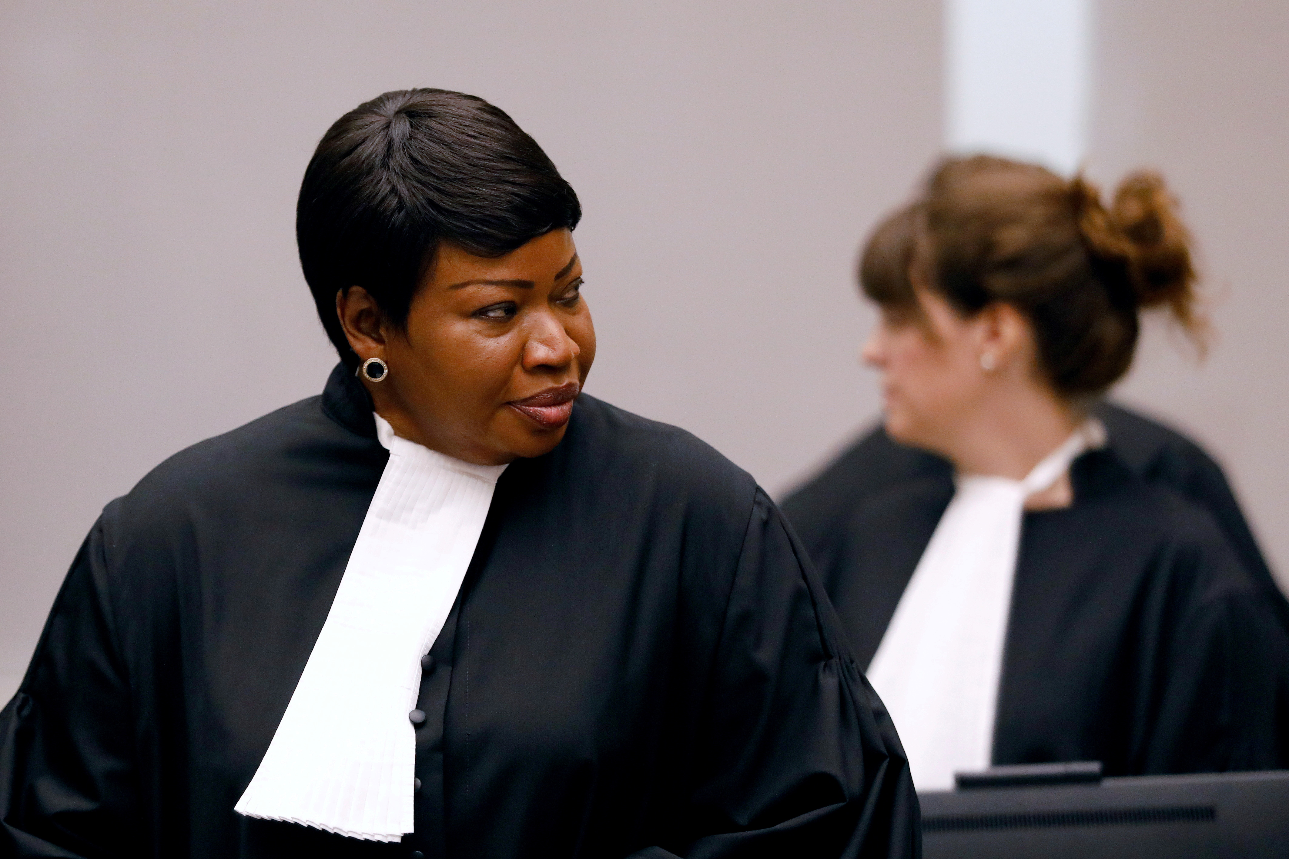 Public Prosecutor Fatou Bensouda attends the trial of Congolese warlord Bosco Ntaganda at the ICC (International Criminal Court) in the Hague, the Netherlands August 28, 2018. Bas Czerwinski/Pool via REUTERS