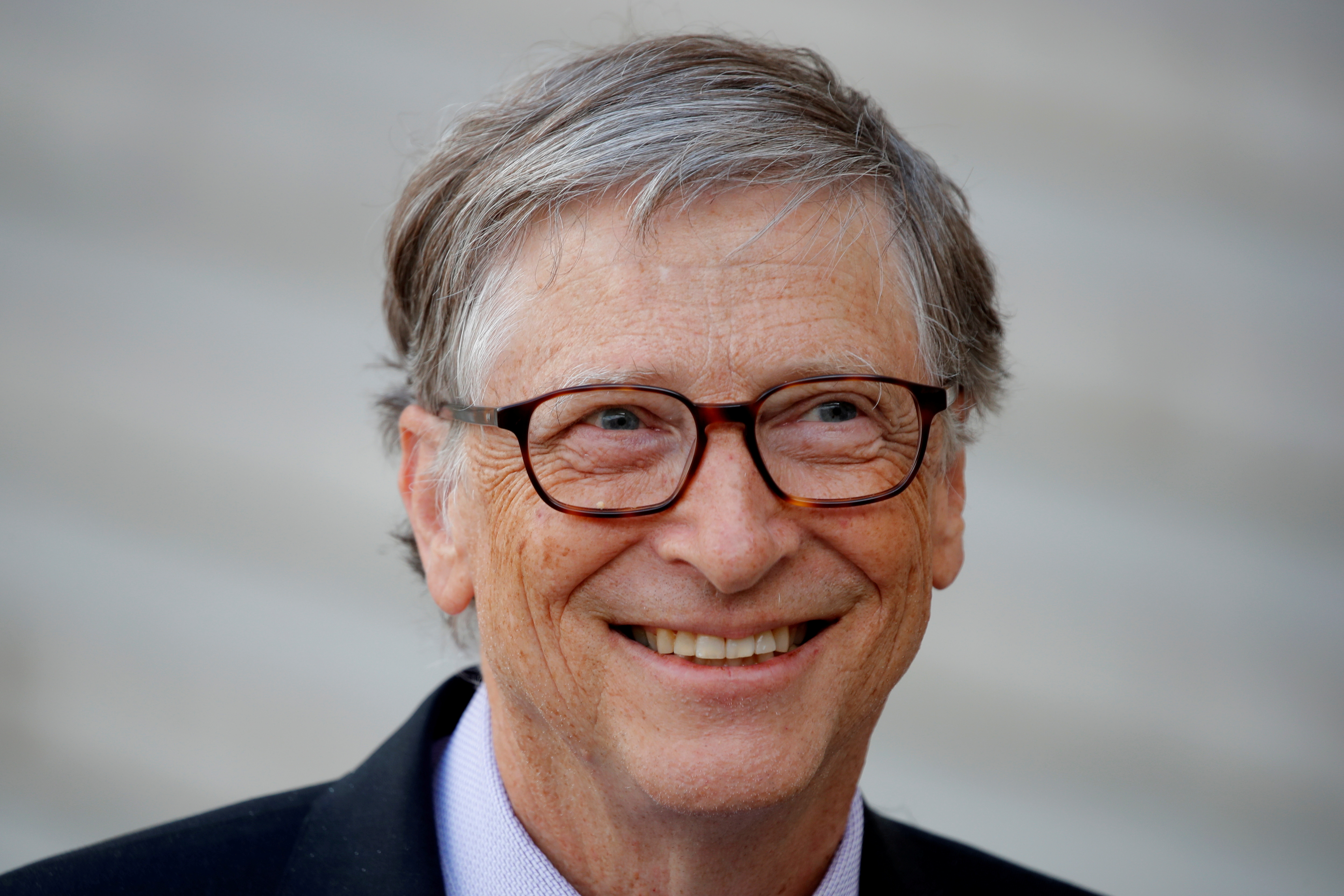 Bill Gates, Co-Chair of Bill & Melinda Gates Foundation leaves the Elysee Palace in Paris, France, April 16, 2018. REUTERS/Charles Platiau/File Photo