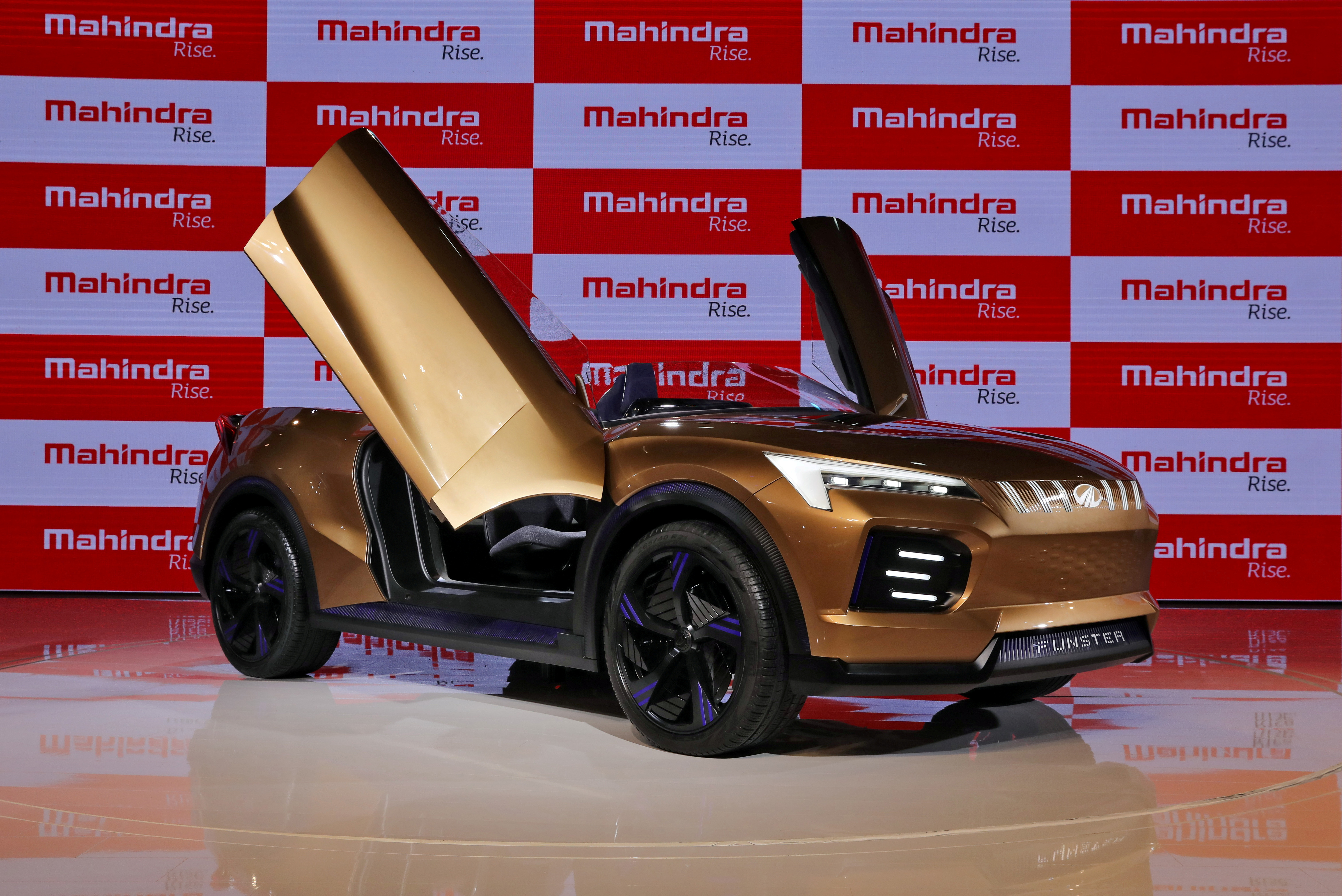 Mahindra Funster electric concept SUV is on display after it was unveiled at the India Auto Expo 2020 in Greater Noida, India, February 5, 2020. REUTERS/Anushree Fadnavis/File Photo