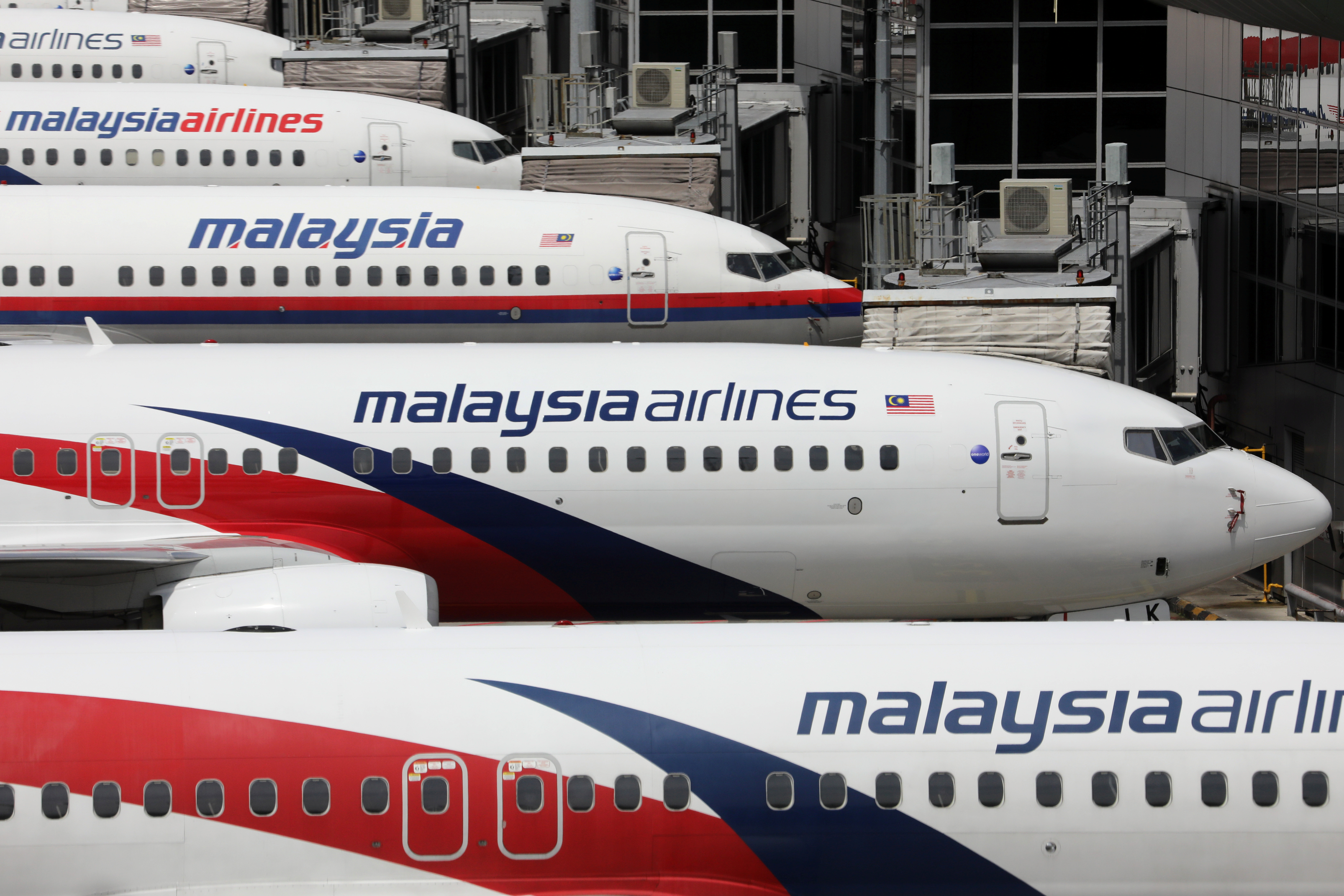 Malaysia Airlines planes are seen parked at Kuala Lumpur International Airport, amid the coronavirus disease (COVID-19) outbreak in Sepang, Malaysia October 6, 2020. REUTERS/Lim Huey Teng