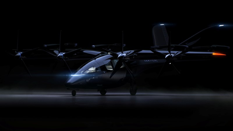 A rendering of Vertical Aerospace's VA-X4 aircraft is seen in this image obtained by Reuters on June 11, 2021. Vertical Aerospace/Handout via REUTERS THIS IMAGE HAS BEEN SUPPLIED BY A THIRD PARTY. NO RESALES. NO ARCHIVES. MANDATORY CREDIT