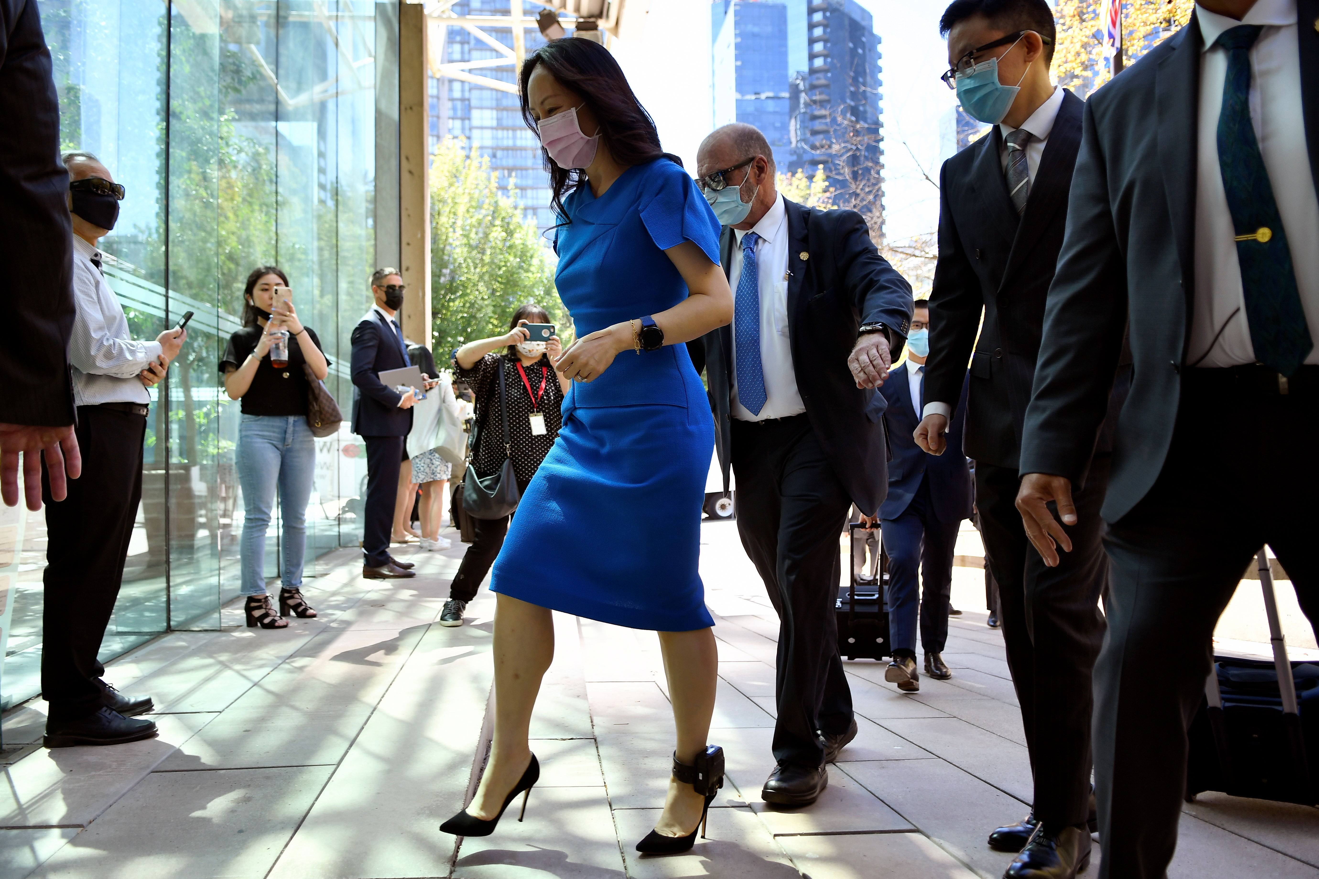 Huawei Technologies Chief Financial Officer Meng Wanzhou returns to court following a break in Vancouver, British Columbia, Canada, August 4, 2021. REUTERS/Jennifer Gauthier