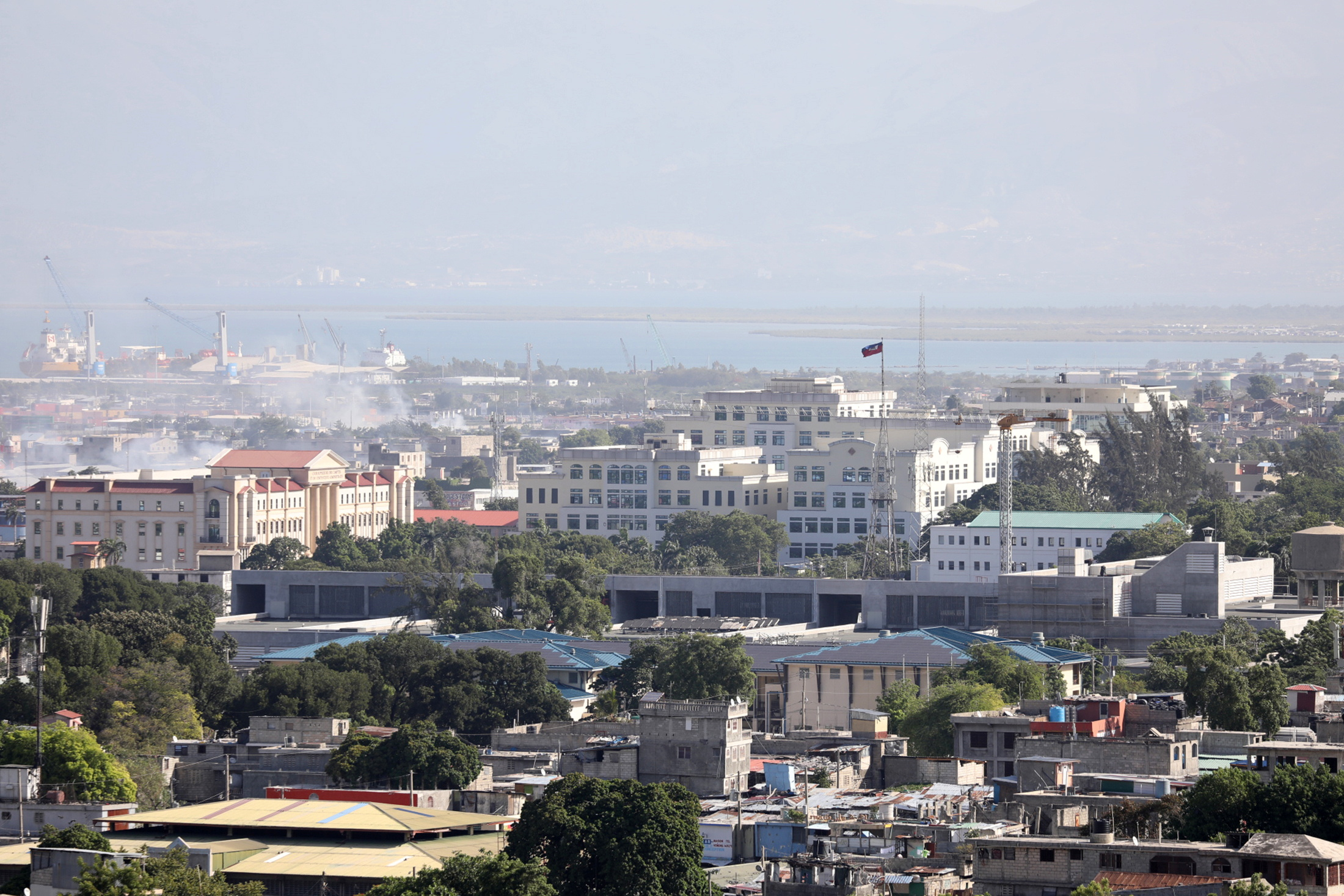 A view of the port and the area around Champs de Mar, near the presidential palace, after Haiti's President Jovenel Moise was shot dead by unidentified attackers in his private residence, in Port-au-Prince, Haiti July 7, 2021. REUTERS/Valerie Baeriswyl