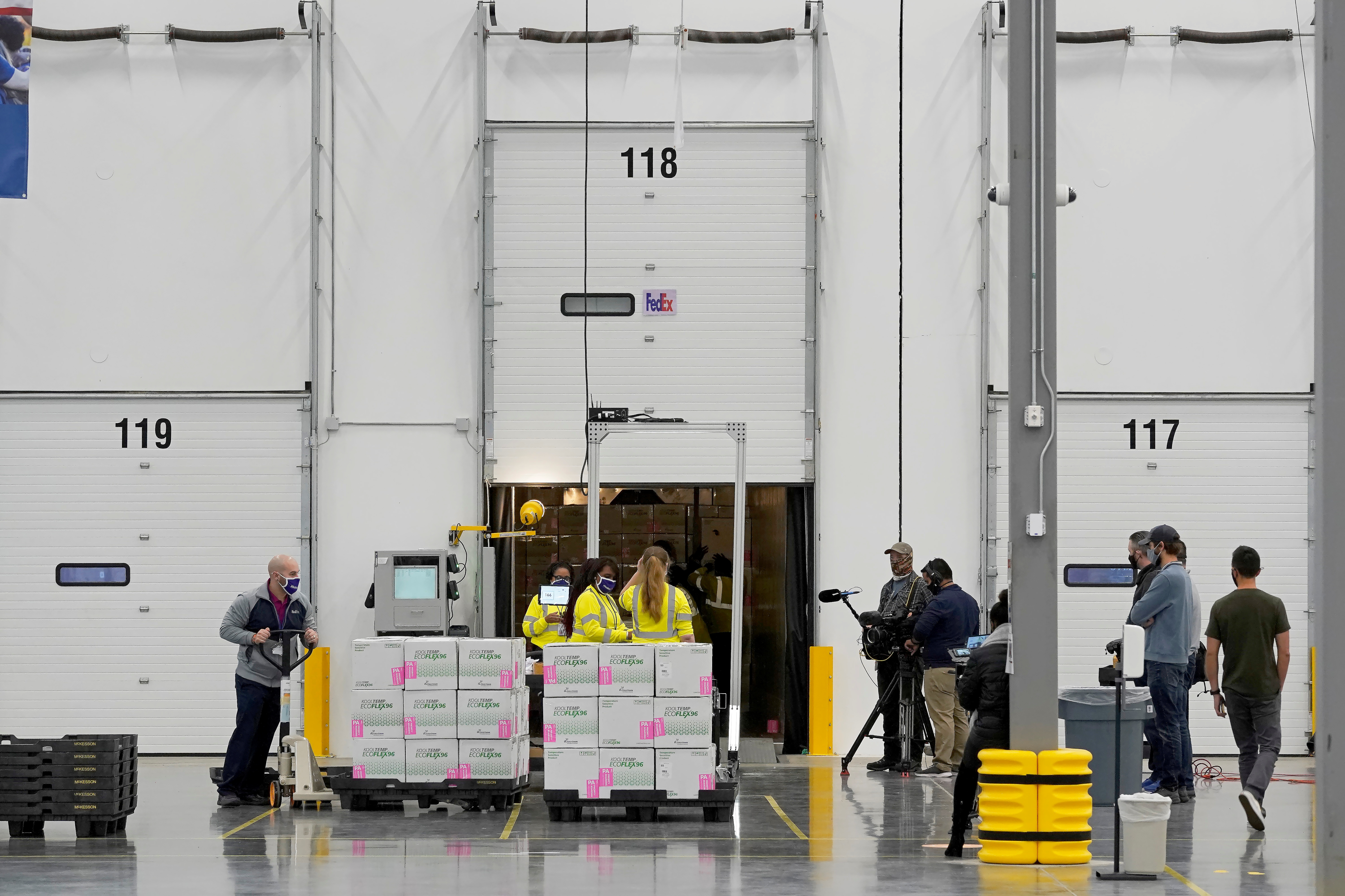 Boxes containing the Moderna COVID-19 vaccine are prepared to be shipped at the McKesson distribution center in Olive Branch, Mississippi, U.S. December 20, 2020. Paul Sancya/Pool via REUTERS