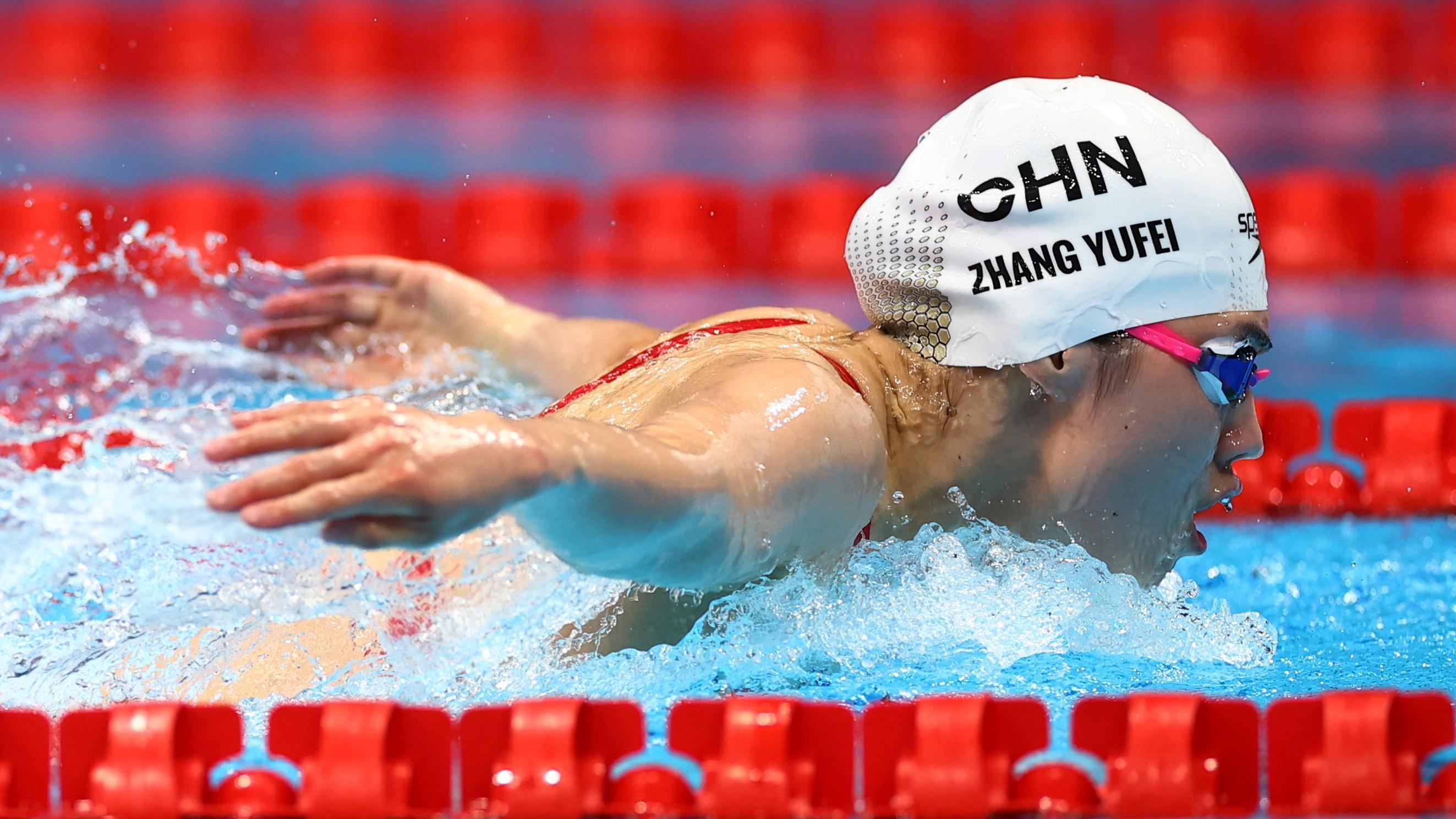 Tokyo 2020 Olympics - Swimming - Women's 200m Butterfly - Final - Tokyo Aquatics Centre - Tokyo, Japan - July 29, 2021. Zhang Yufei of China in action REUTERS/Kai Pfaffenbach