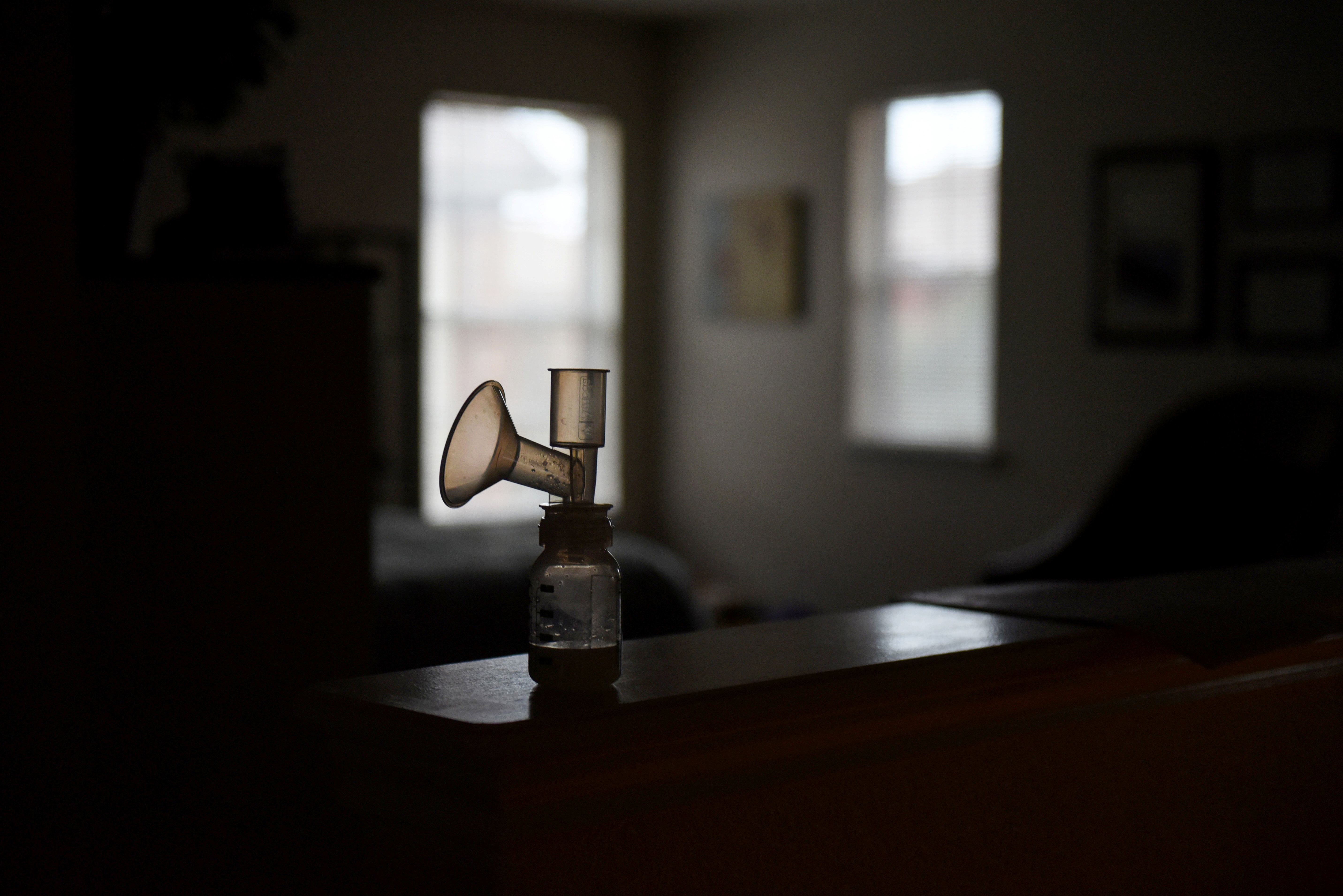 A breast pump is seen in the Hoffmann's home in San Antonio, Texas, U.S., February 8, 2019. REUTERS/Callaghan O'Hare