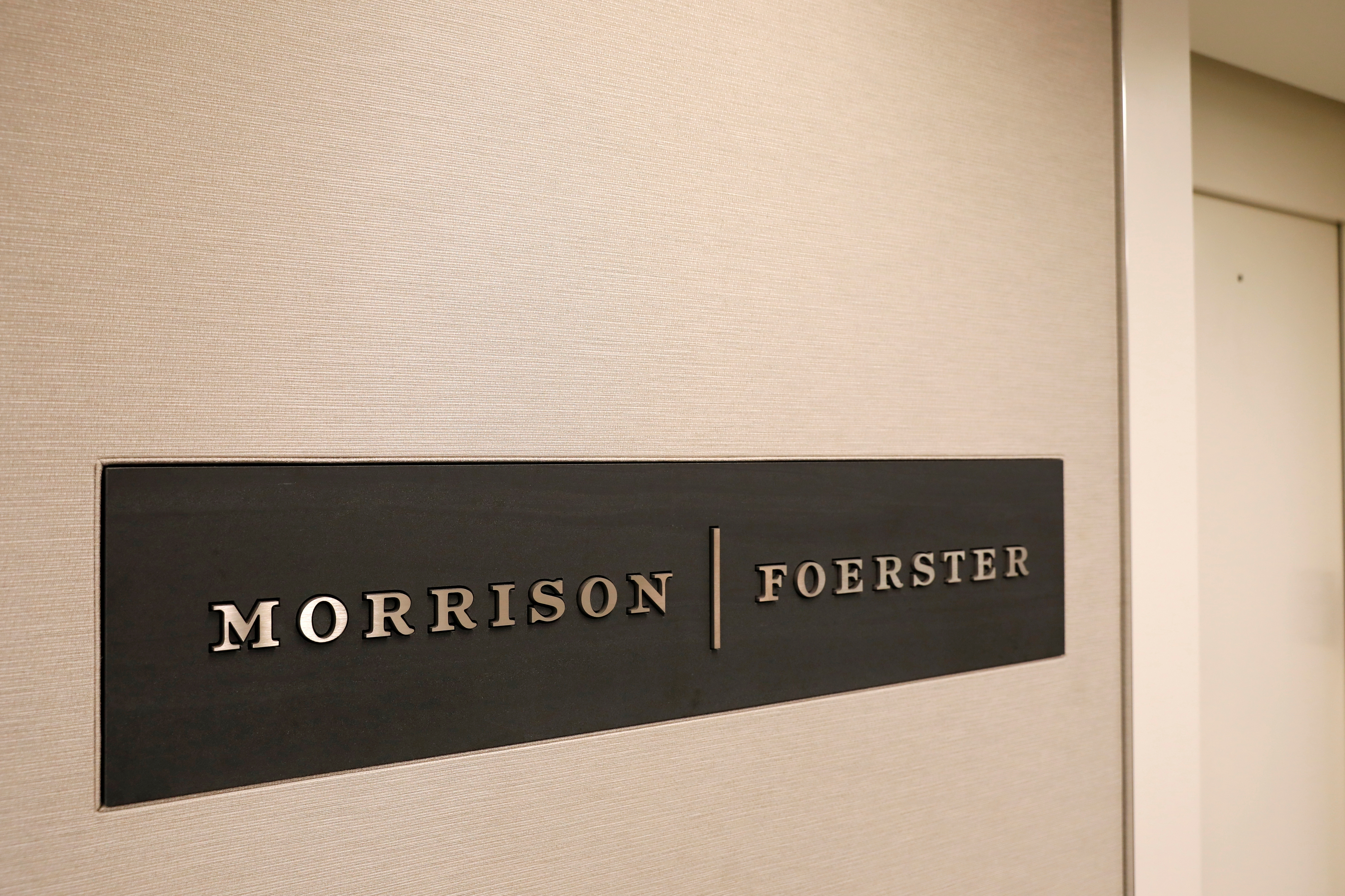 Morrison & Foerster offices in Washington, D.C. REUTERS/Andrew Kelly