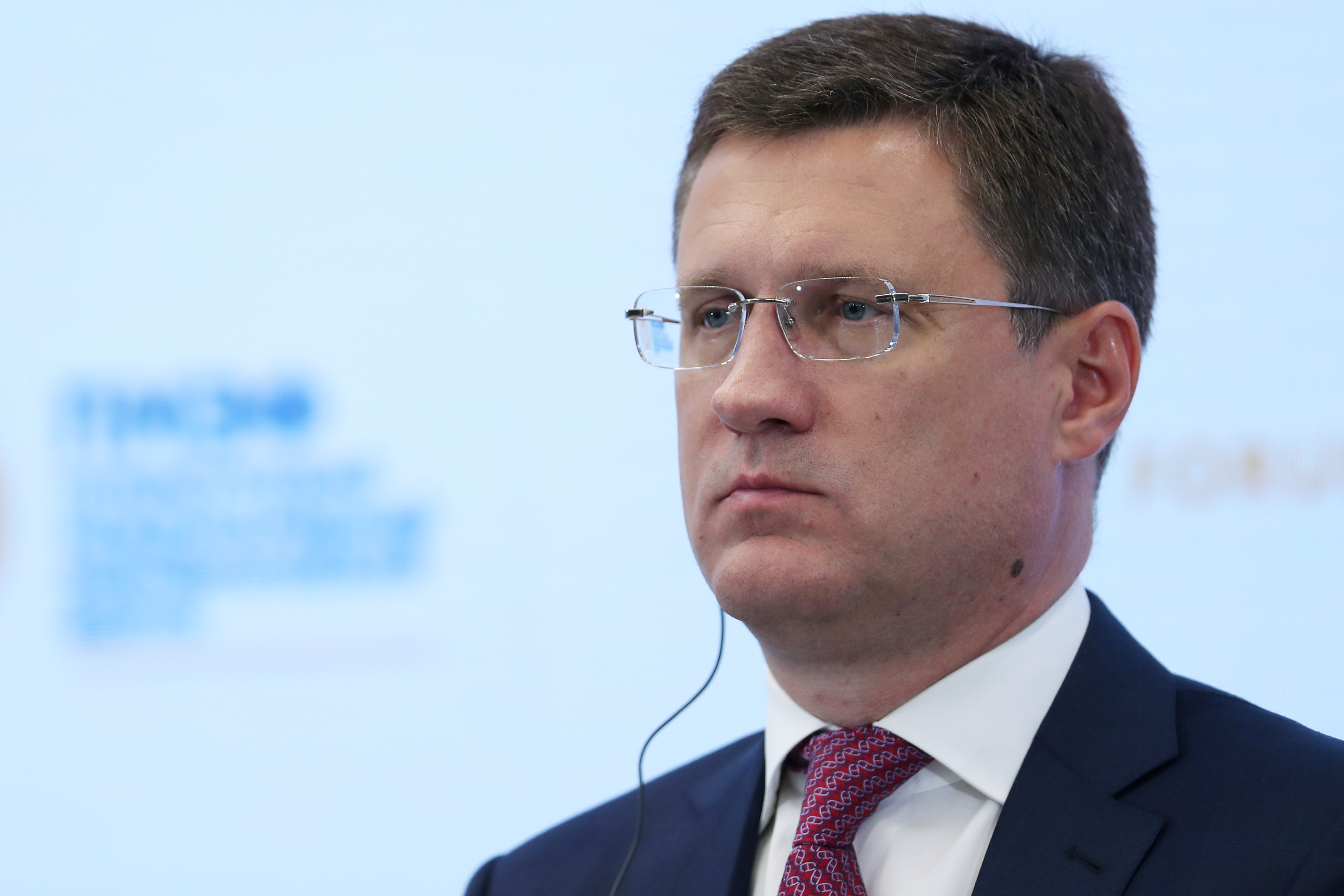 Russian Deputy Prime Minister Alexander Novak attends a session of the St. Petersburg International Economic Forum (SPIEF) in Saint Petersburg, Russia, June 4, 2021. REUTERS/Evgenia Novozhenina/Files