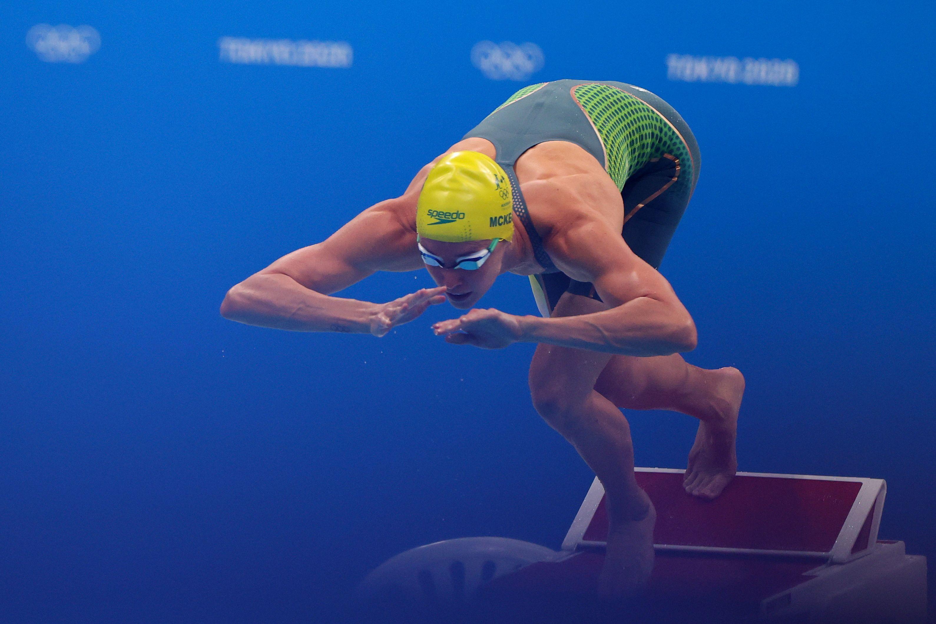 Tokyo 2020 Olympics - Swimming - Women's 50m Freestyle - Heats - Tokyo Aquatics Centre - Tokyo, Japan - July 30, 2021. Emma McKeon of Australia in action REUTERS/Marko Djurica