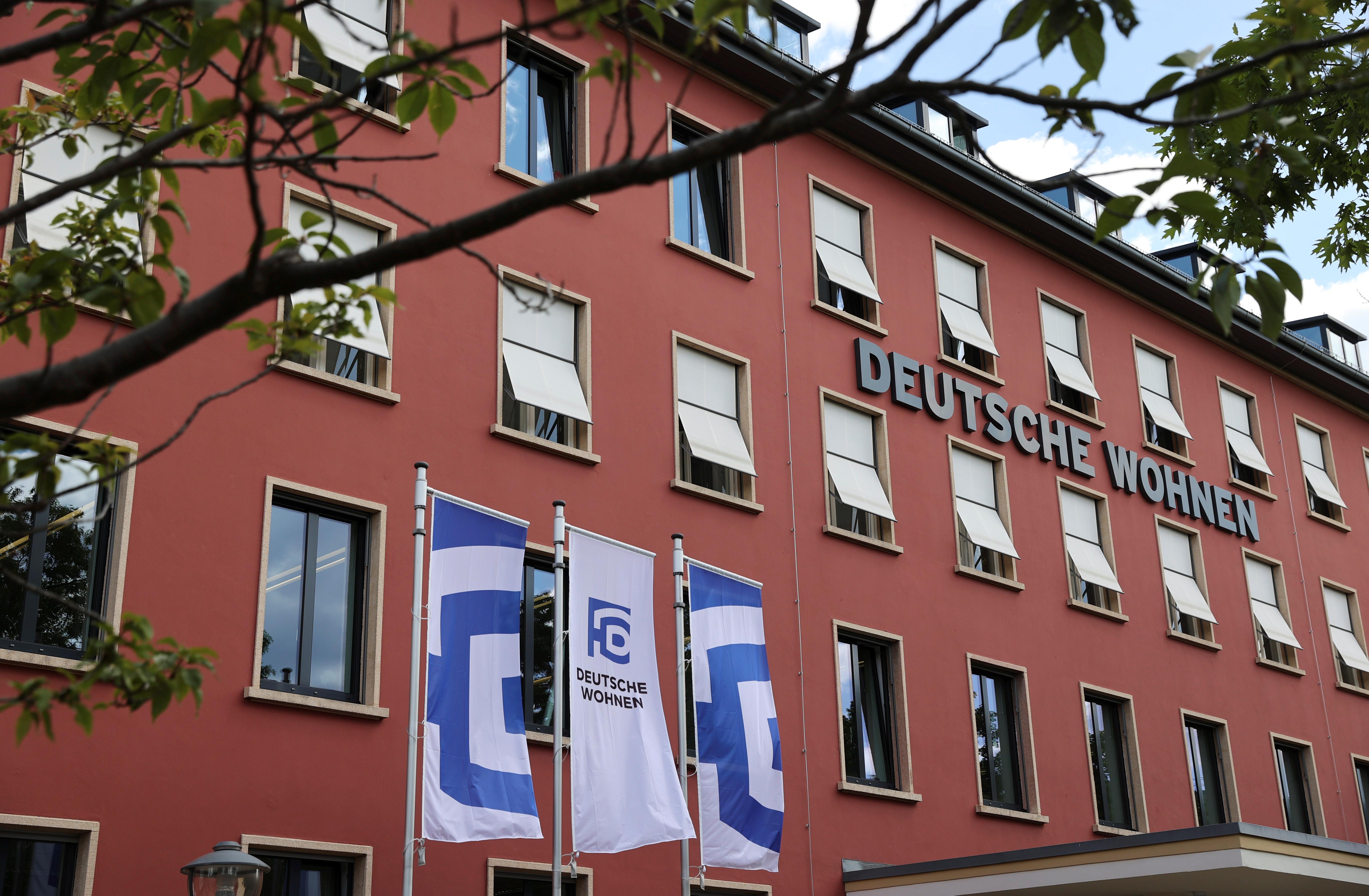 An office building of the German property group Deutsche Wohnen is pictured in Berlin, Germany June 2, 2020.