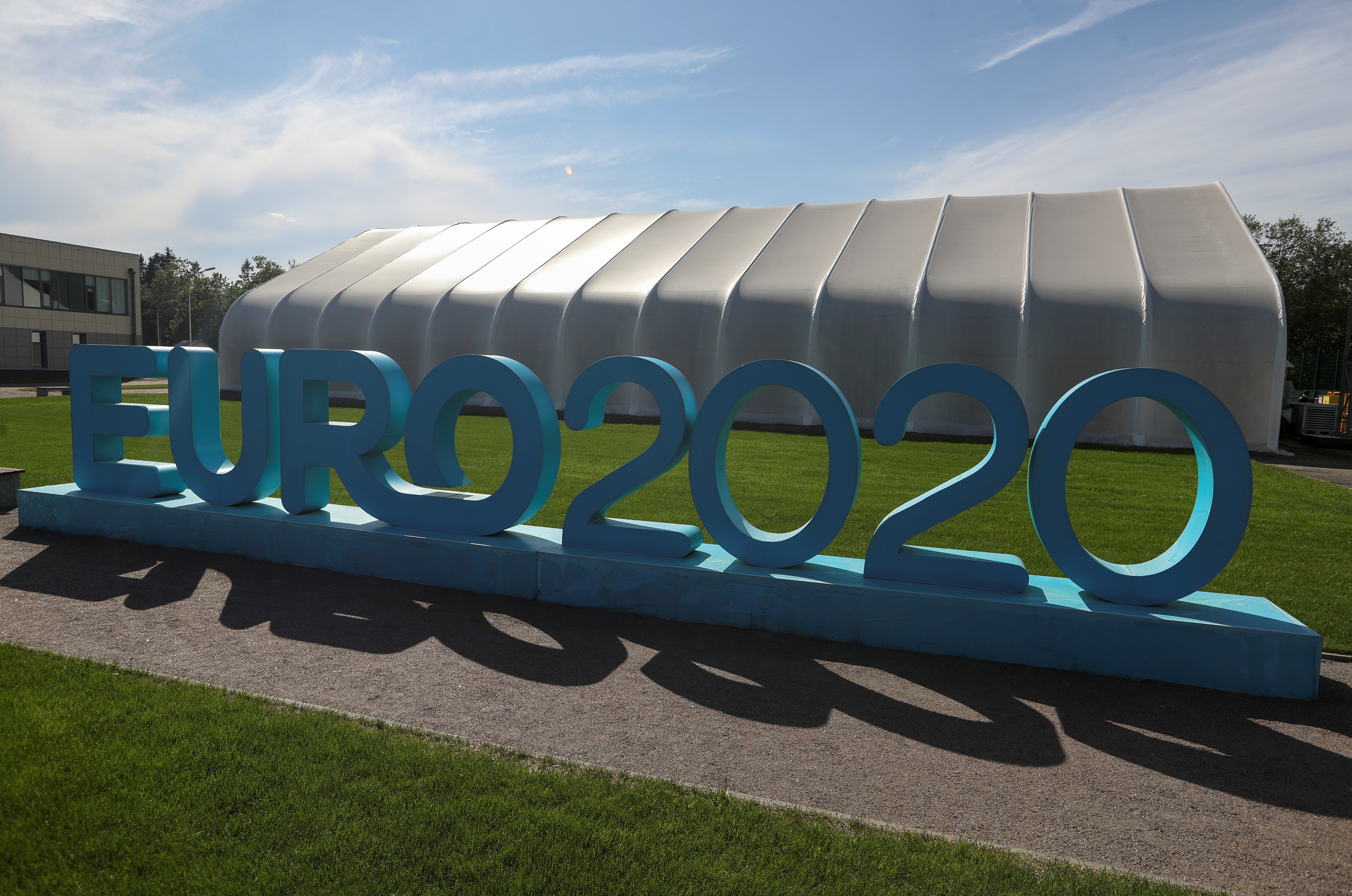 An exterior view shows a soccer base, which is Finland's team camp during the upcoming Euro 2020 tournament, in Saint Petersburg, Russia June 5, 2021. REUTERS/Igor Russak