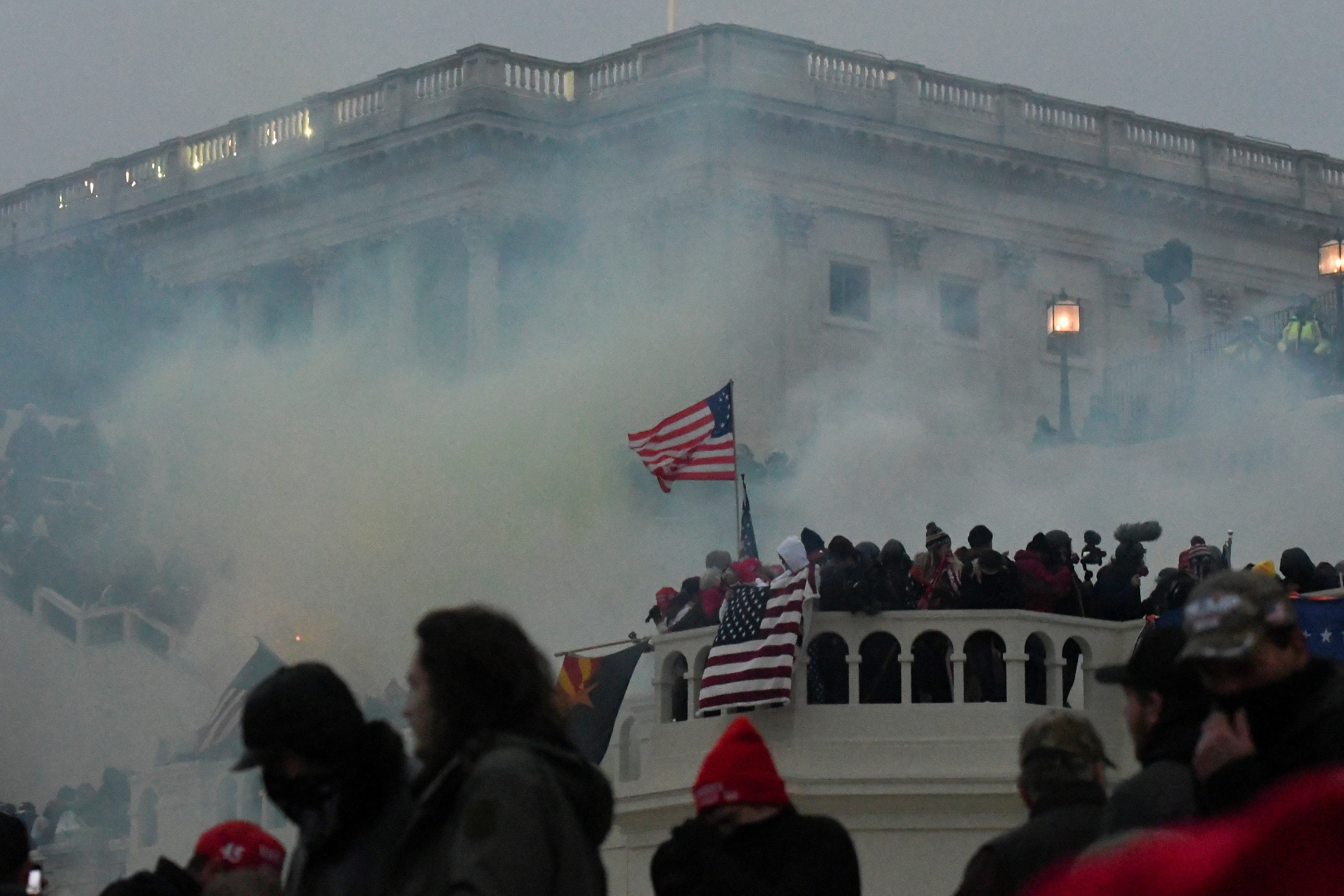 Police clear the U.S. Capitol Building with tear gas as supporters of U.S. President Donald Trump gather outside, in Washington, U.S. January 6, 2021. REUTERS/Stephanie Keith/File Photo