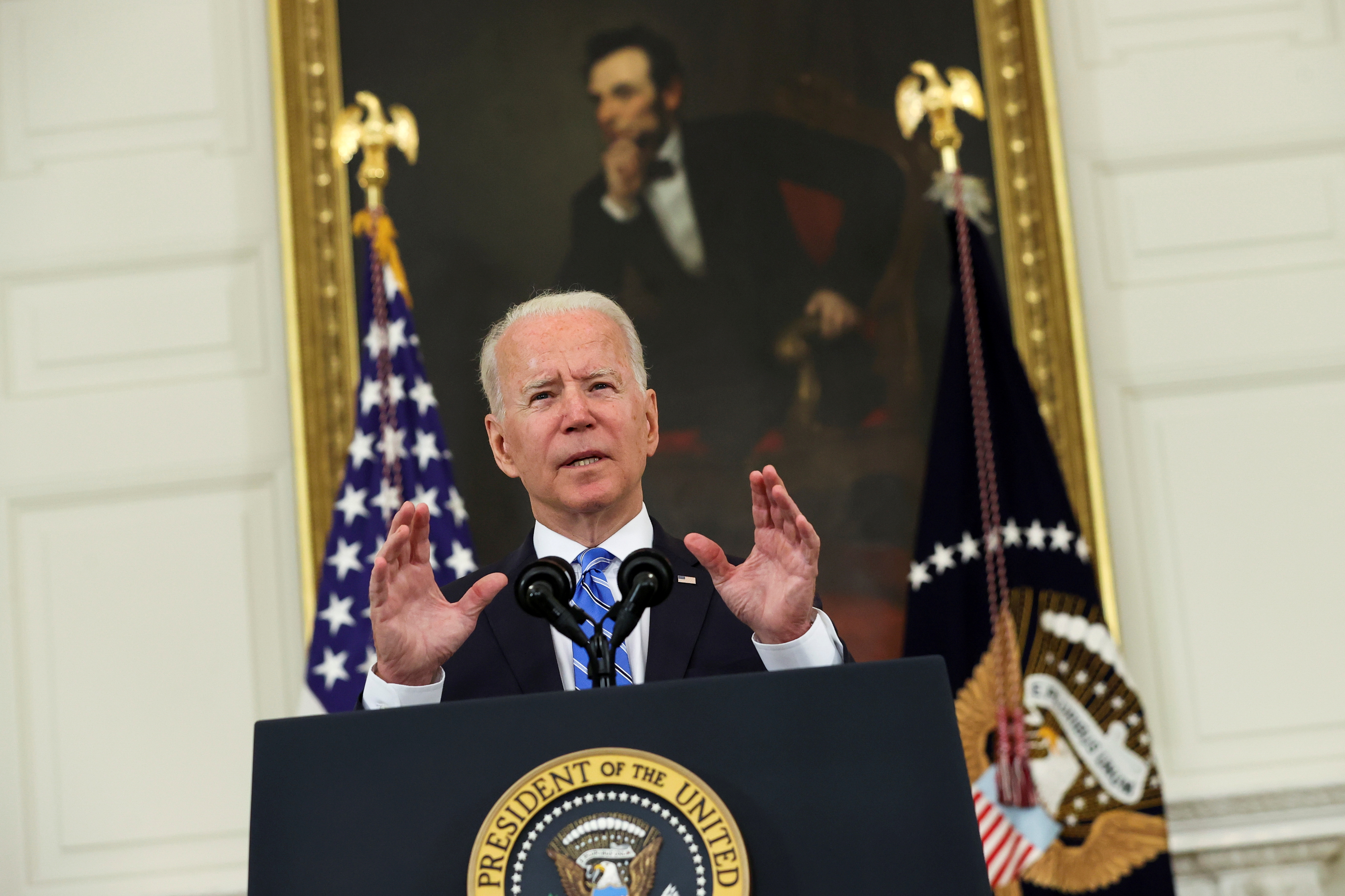 U.S. President Joe Biden delivers remarks on the economy from the White House in Washington, U.S. July 19, 2021. REUTERS/Jonathan Ernst/File Photo
