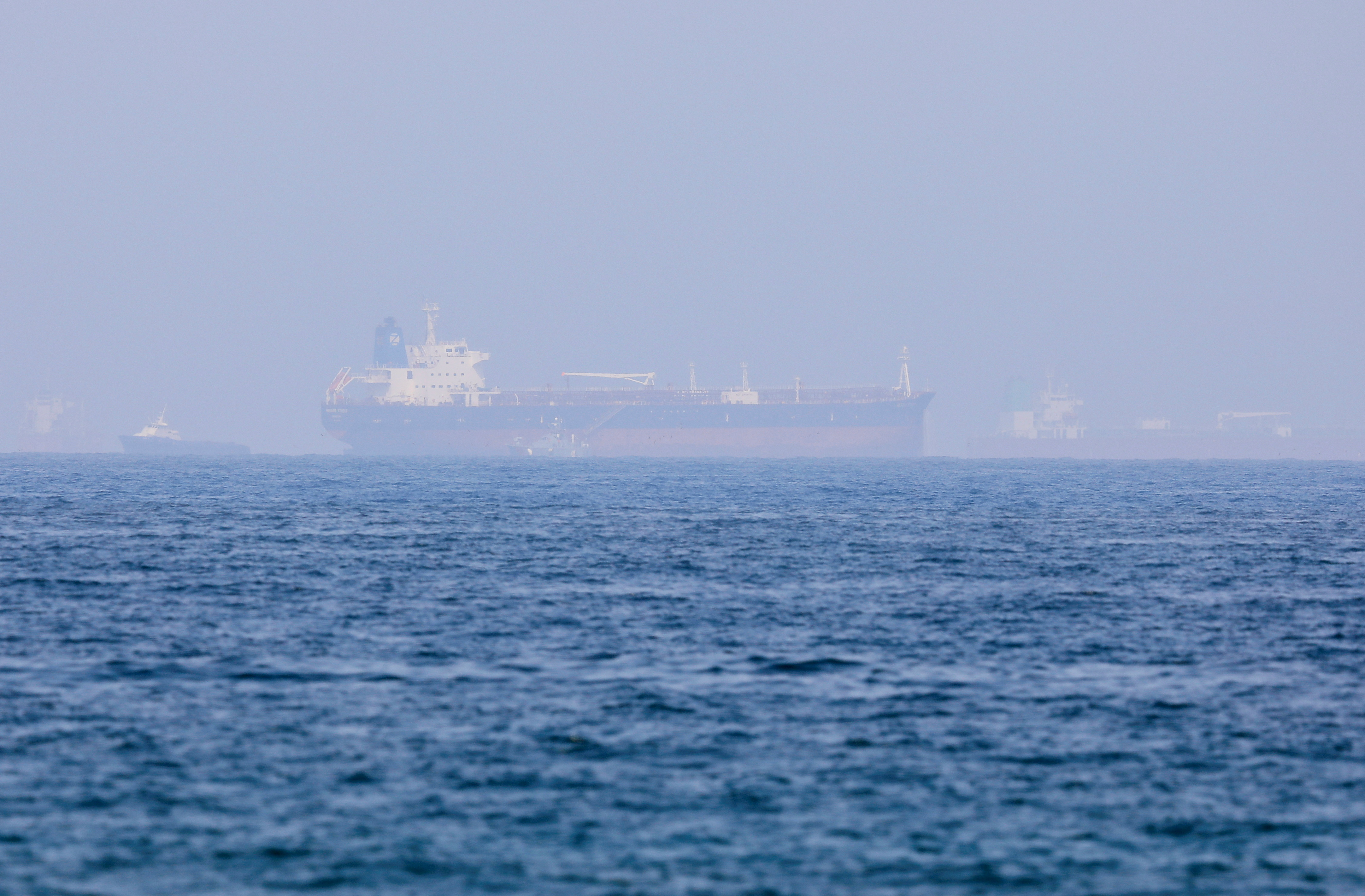 Mercer Street, an Israeli-managed oil tanker that was attacked last week is seen off Fujairah Port in United Arab Emirates, August 3, 2021. REUTERS/Rula Rouhana