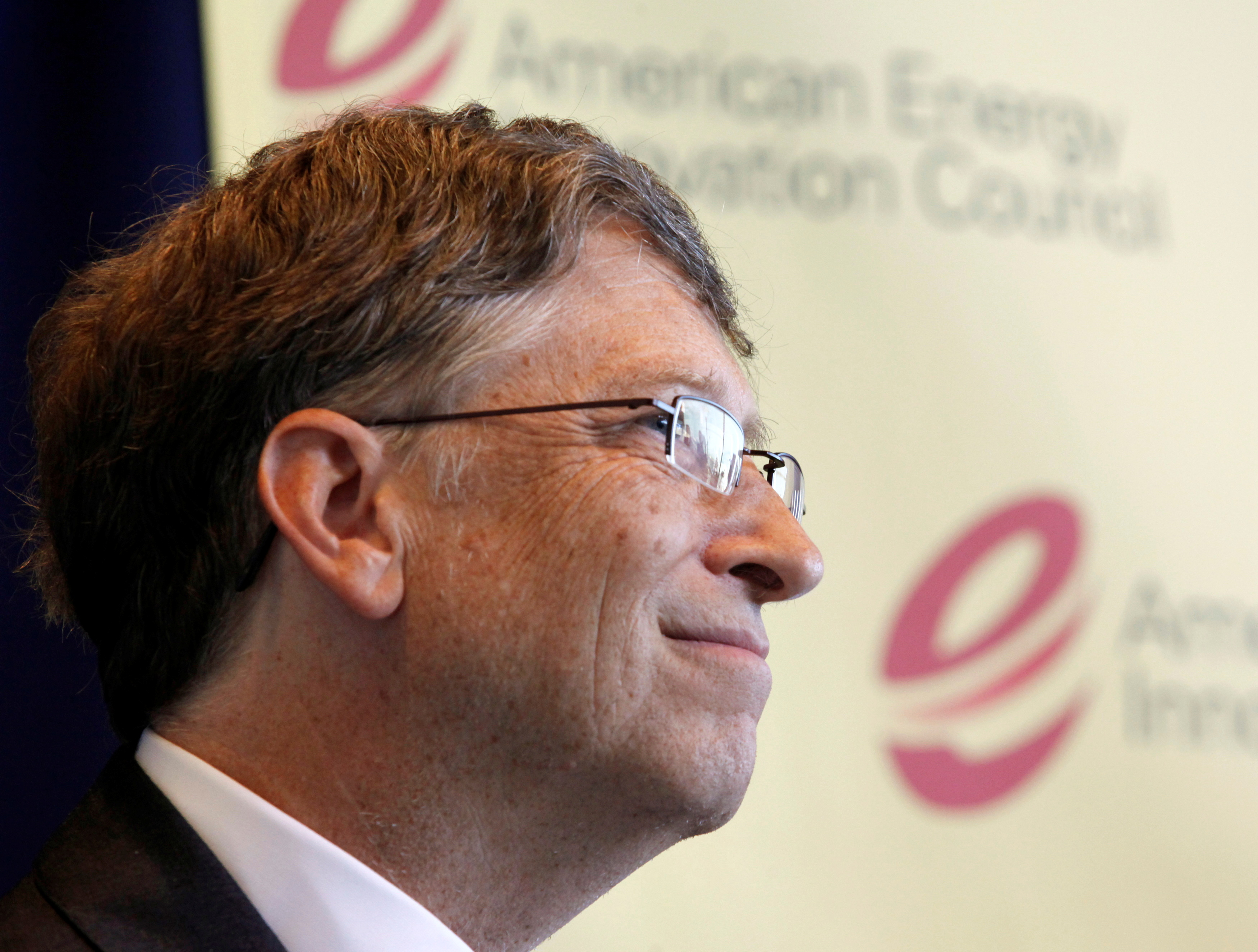 Microsoft Chairman Bill Gates listens during a news conference with fellow U.S. executives about their group's recommendations to Congress and the president to revolutionize U.S. energy innovation at the Newseum in Washington June 10, 2010. REUTERS/Richard Clement