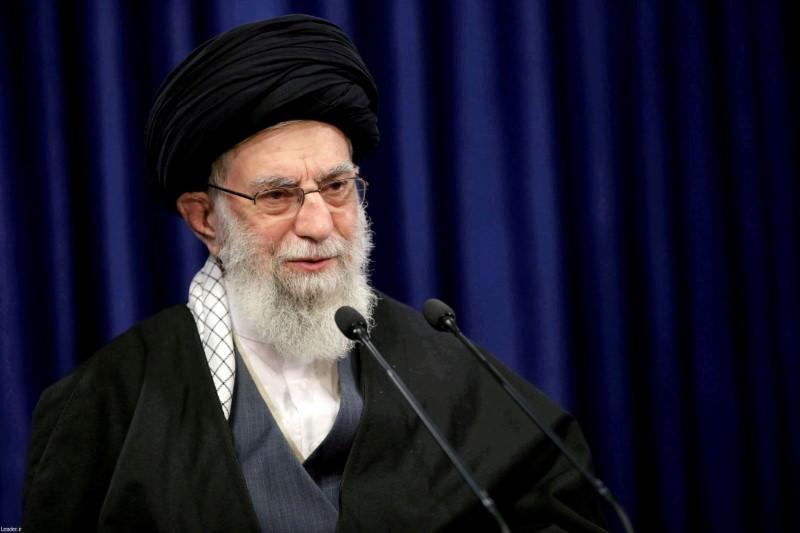 Iranian Supreme Leader Ayatollah Ali Khamenei delivers a televised speech in Tehran, Iran, January 8, 2021. Official Khamenei Website/Handout via REUTERS//File Photo