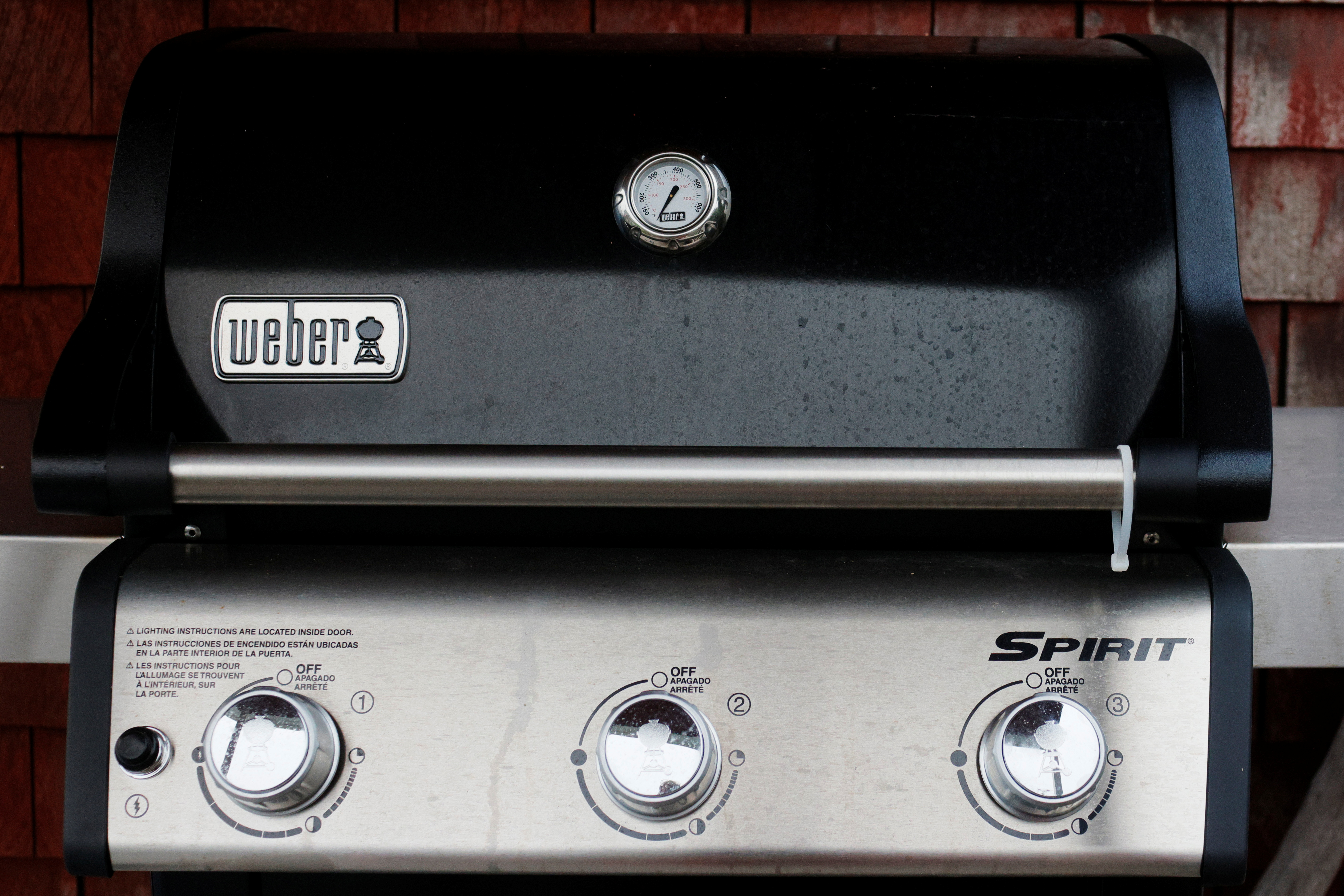 A Weber grill stands on a porch in Gloucester, Massachusetts, U.S., July 13, 2021.   REUTERS/Brian Snyder