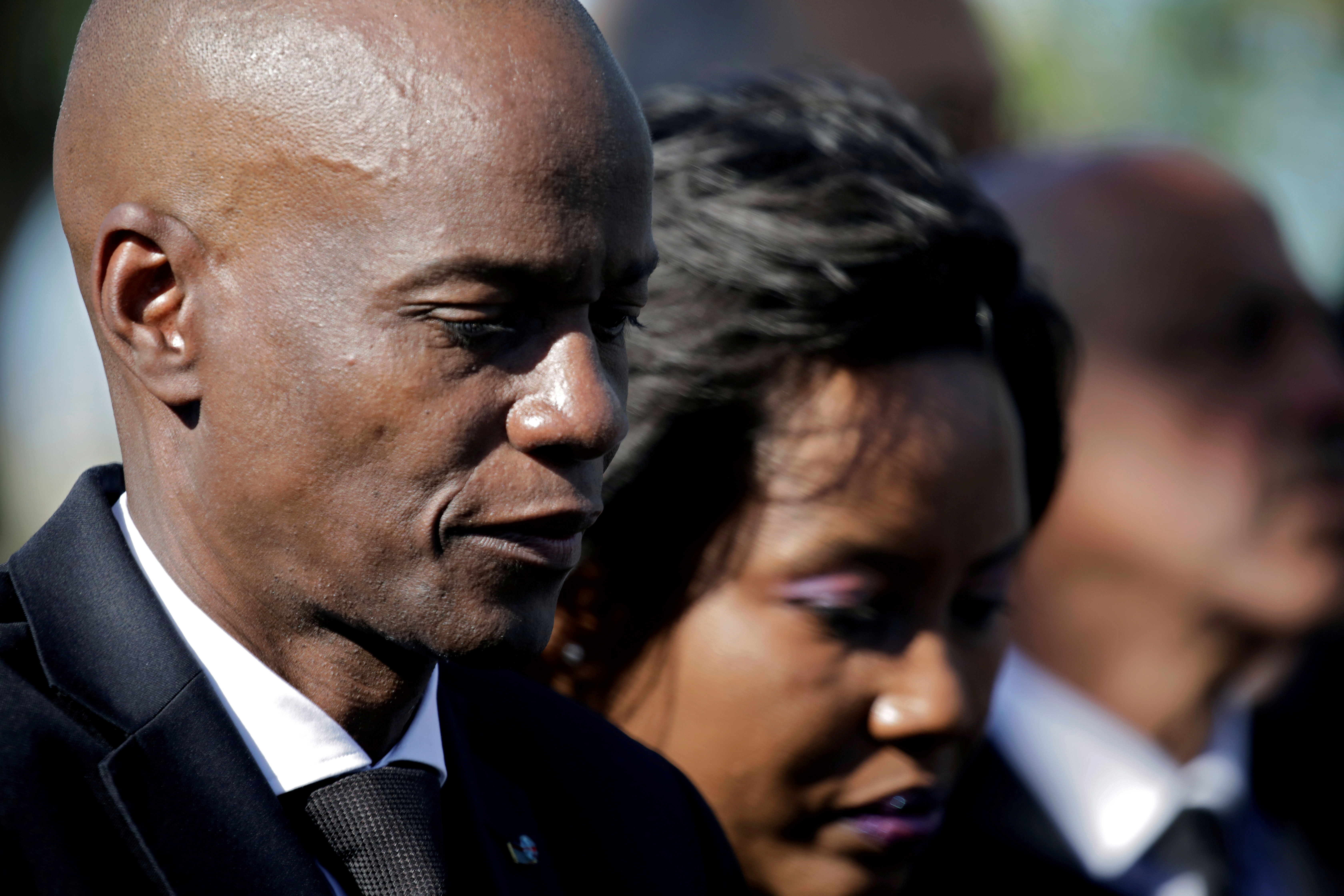 Haiti's President Jovenel Moise and first lady Martine attend a ceremony at a memorial for the tenth anniversary of the January 12, 2010 earthquake, in Titanyen, Haiti, January 12, 2020. REUTERS/Andres Martinez Casares/File Photo