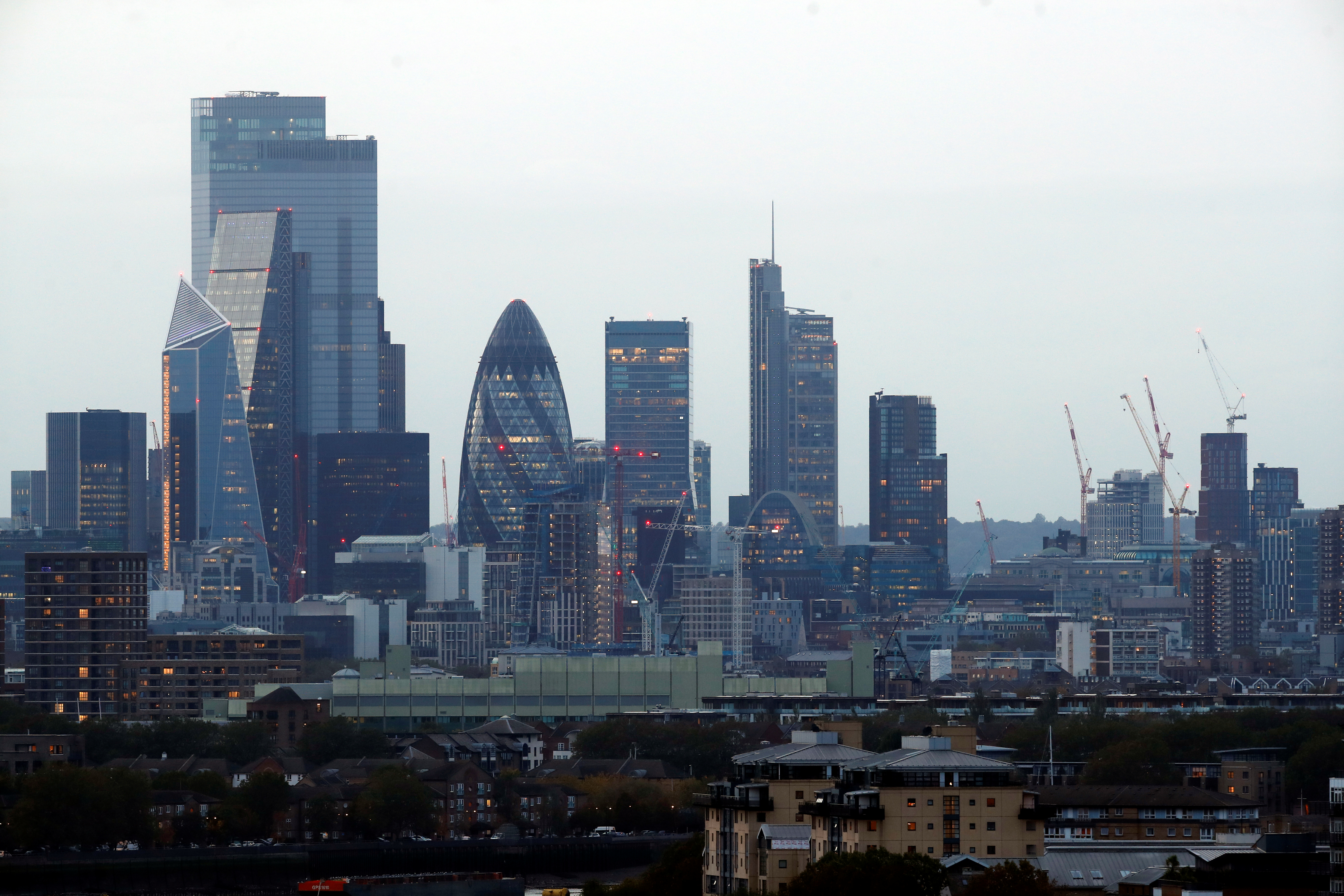 A view of the London skyline, Britain, October 14, 2020. REUTERS/Matthew Childs