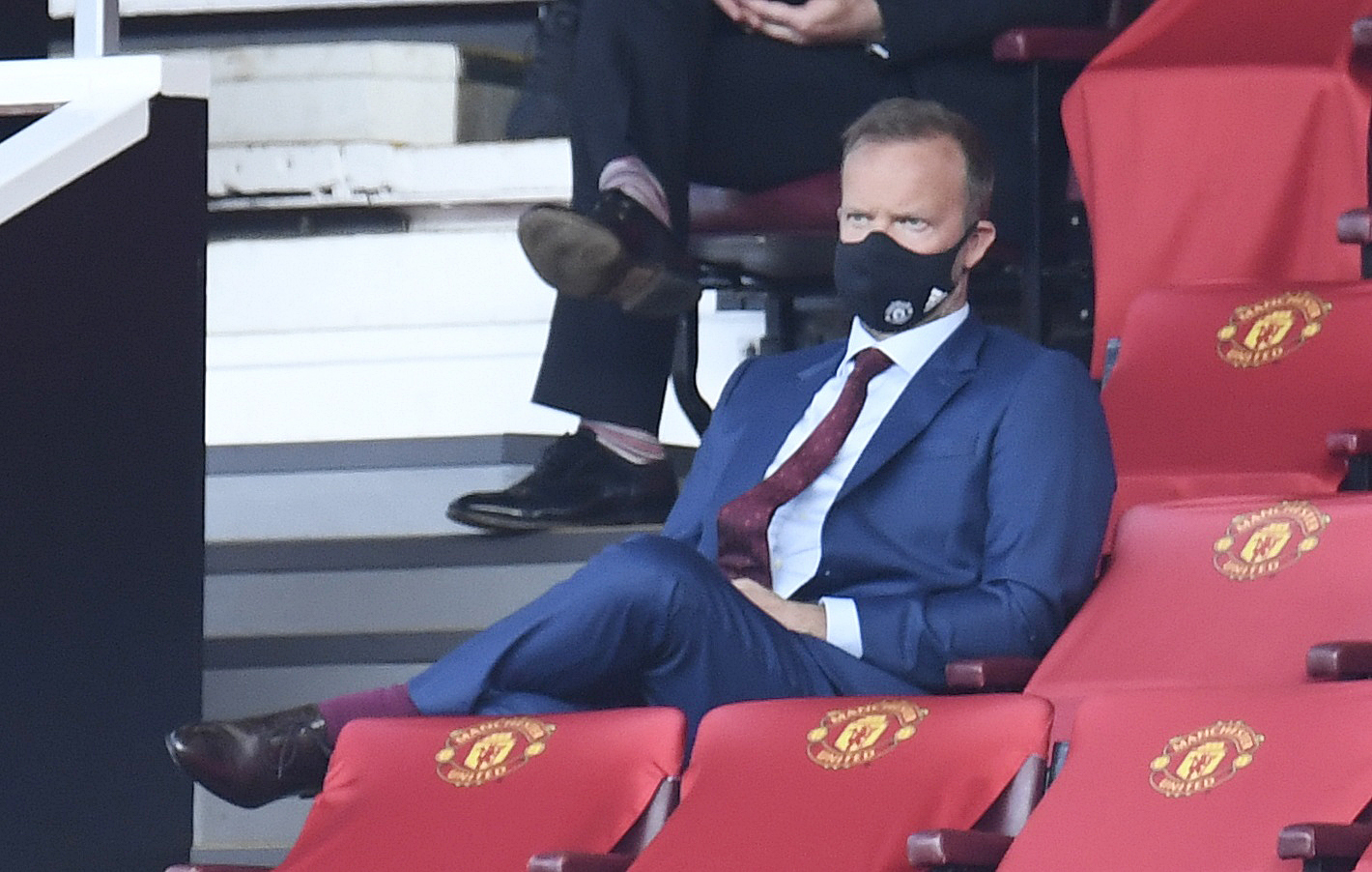 Soccer Football - Premier League - Manchester United v Southampton - Old Trafford, Manchester, Britain - July 13, 2020 Manchester United executive vice-chairman Ed Woodward in the stands, as play resumes behind closed doors following the outbreak of the coronavirus disease (COVID-19) Pool via REUTERS/Peter Powell