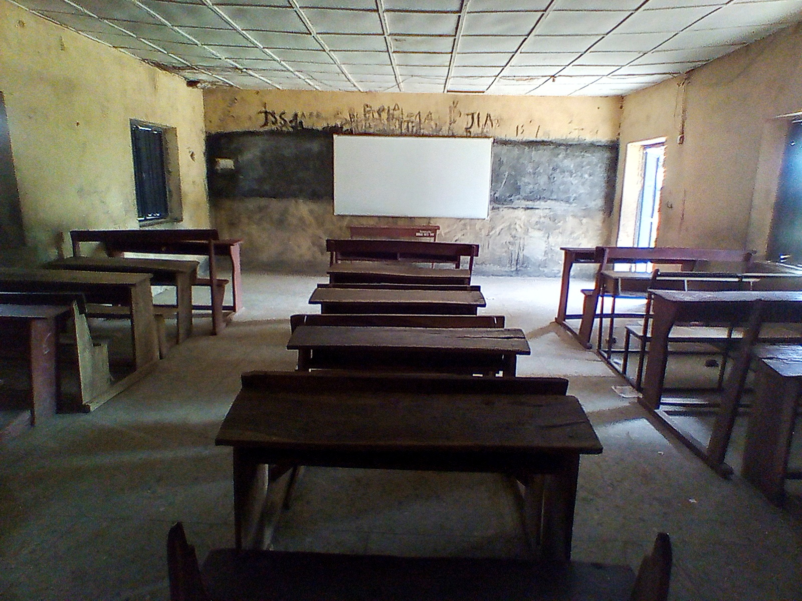 Pieces of furniture are seen inside a classroom at Bethel Baptist High School where unspecified number of student were kidnapped at Damishi, Kaduna, Nigeria July 7, 2021. REUTERS/Bosan Yakusak